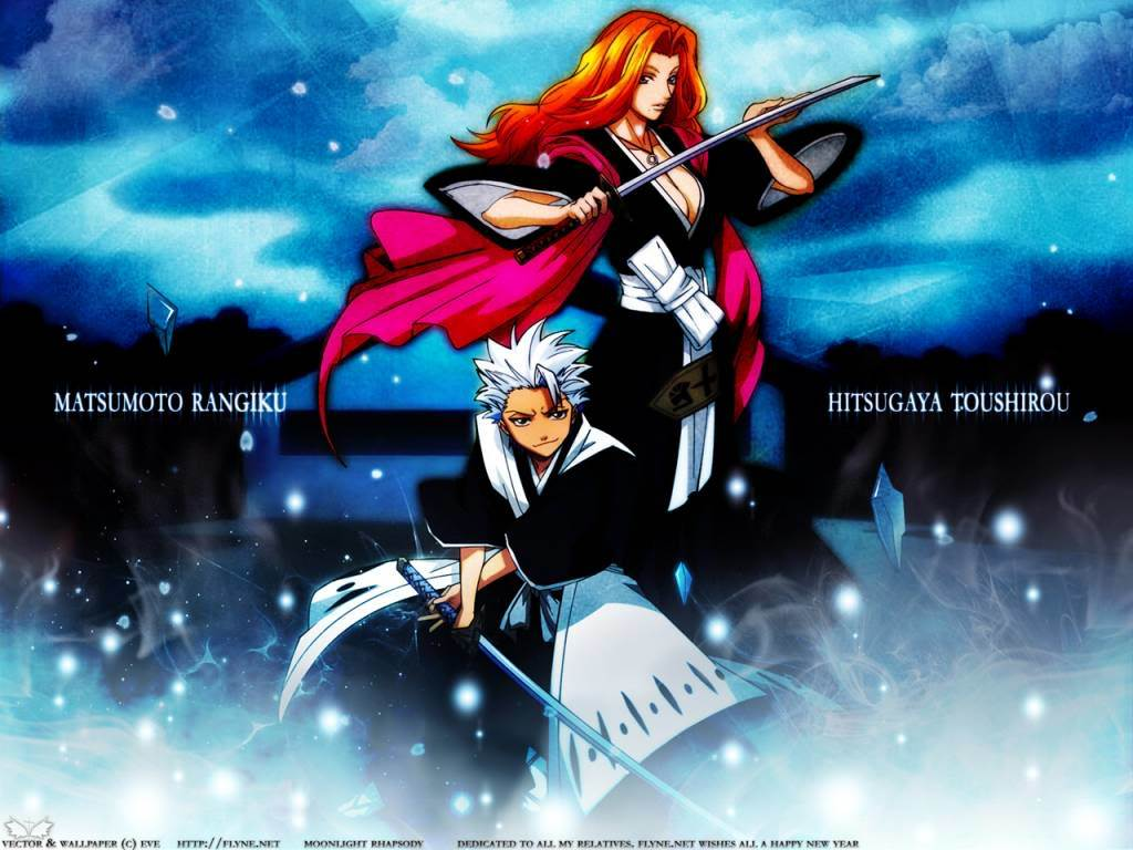 bleach Matsumoto rangiku hitsugaya HD Wallpaper