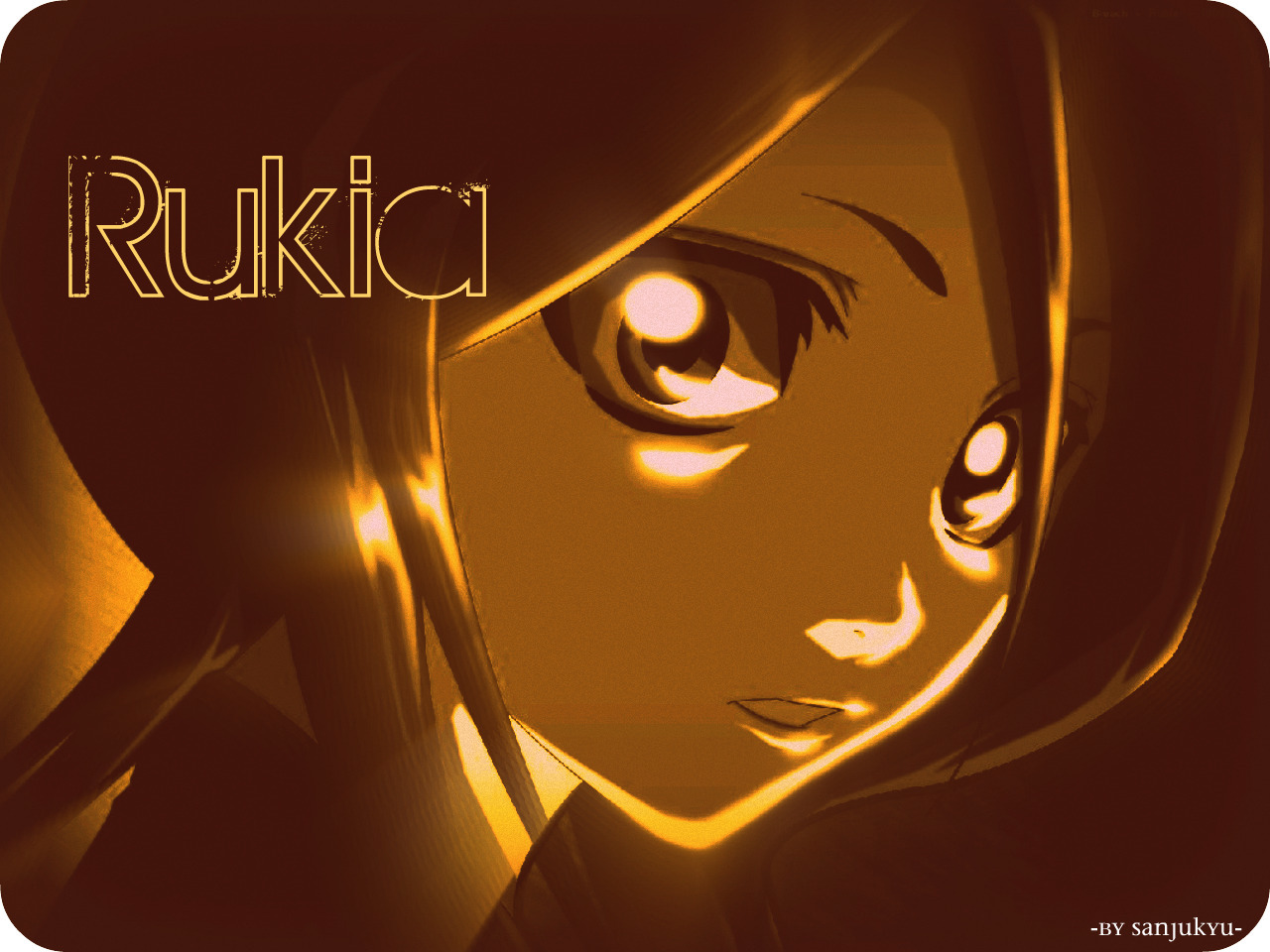 bleach sepia Kuchiki rukia HD Wallpaper
