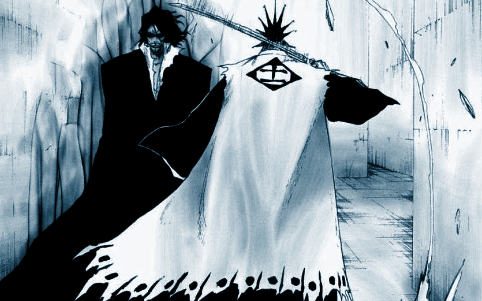 bleach Zaraki Kenpachi zangetsu HD Wallpaper