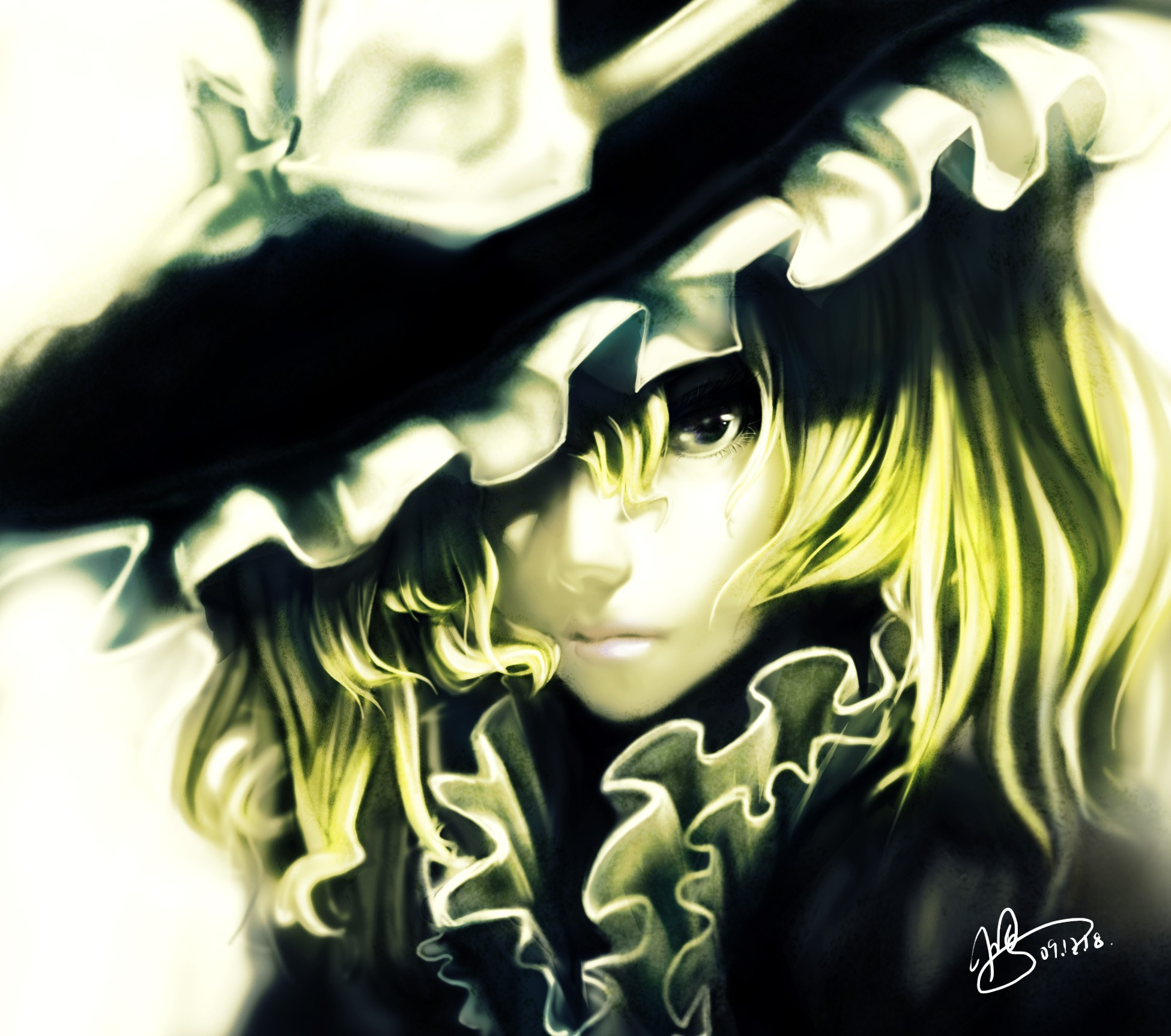 blondes close-up touhou short HD Wallpaper