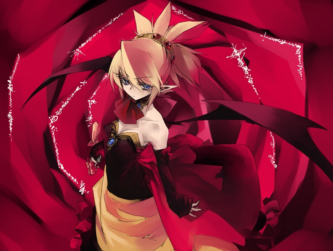 blondes disgaea wings dress HD Wallpaper