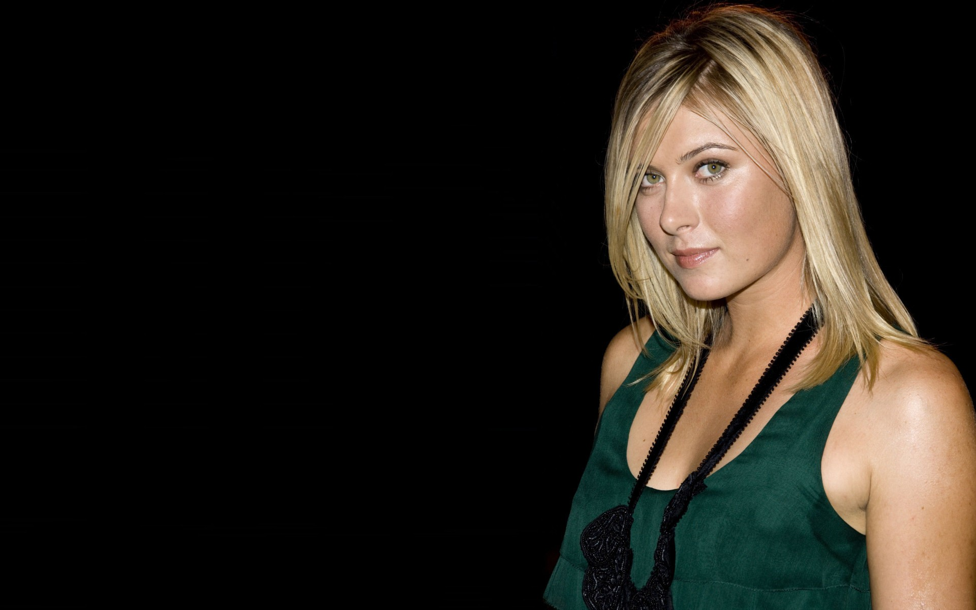 blondes Green woman maria HD Wallpaper
