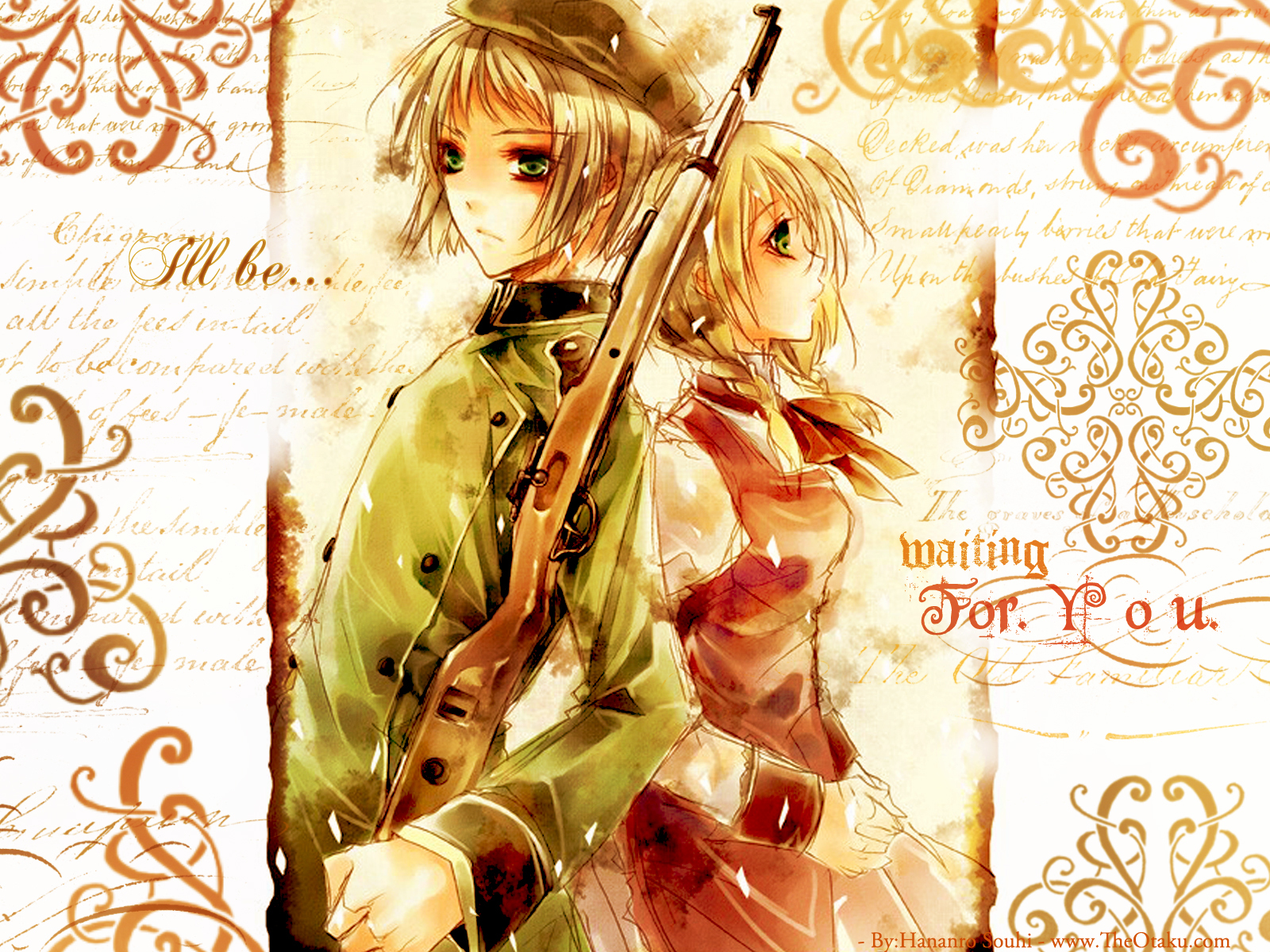 blondes Guns switzerland Anime HD Wallpaper