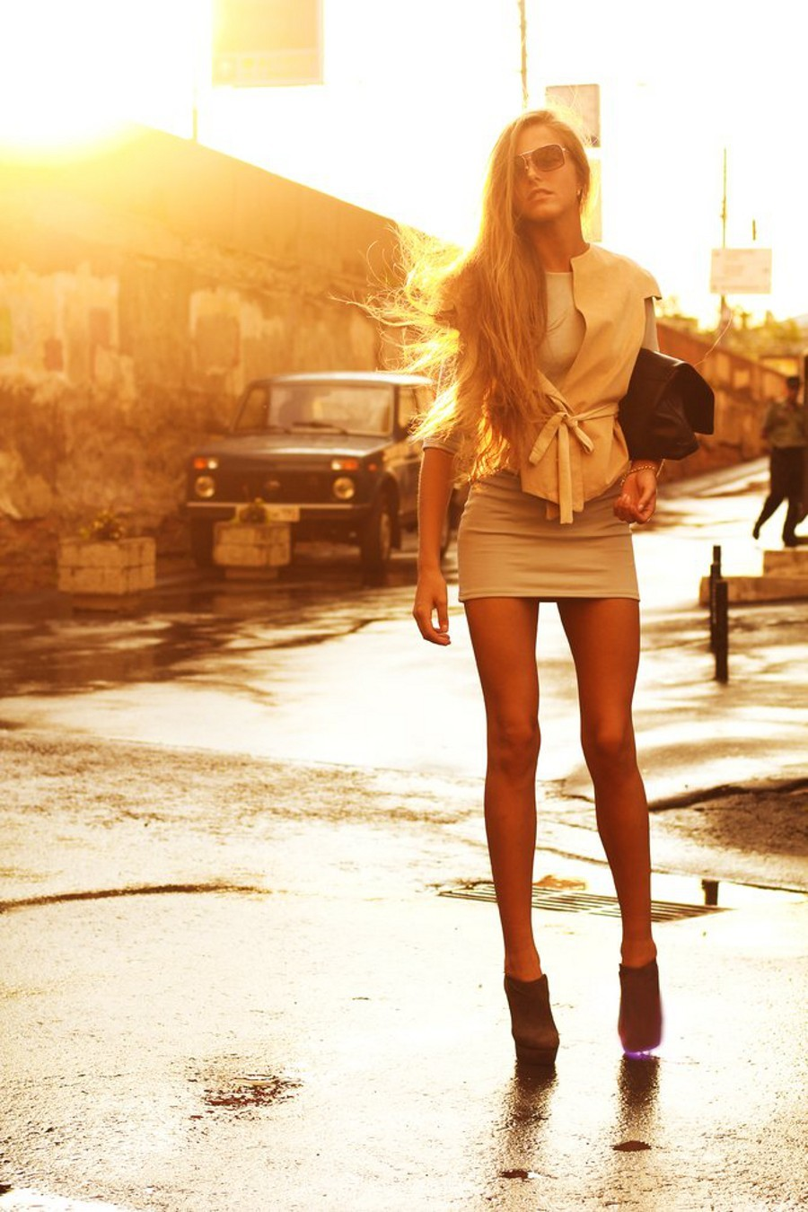 blondes legs woman long HD Wallpaper