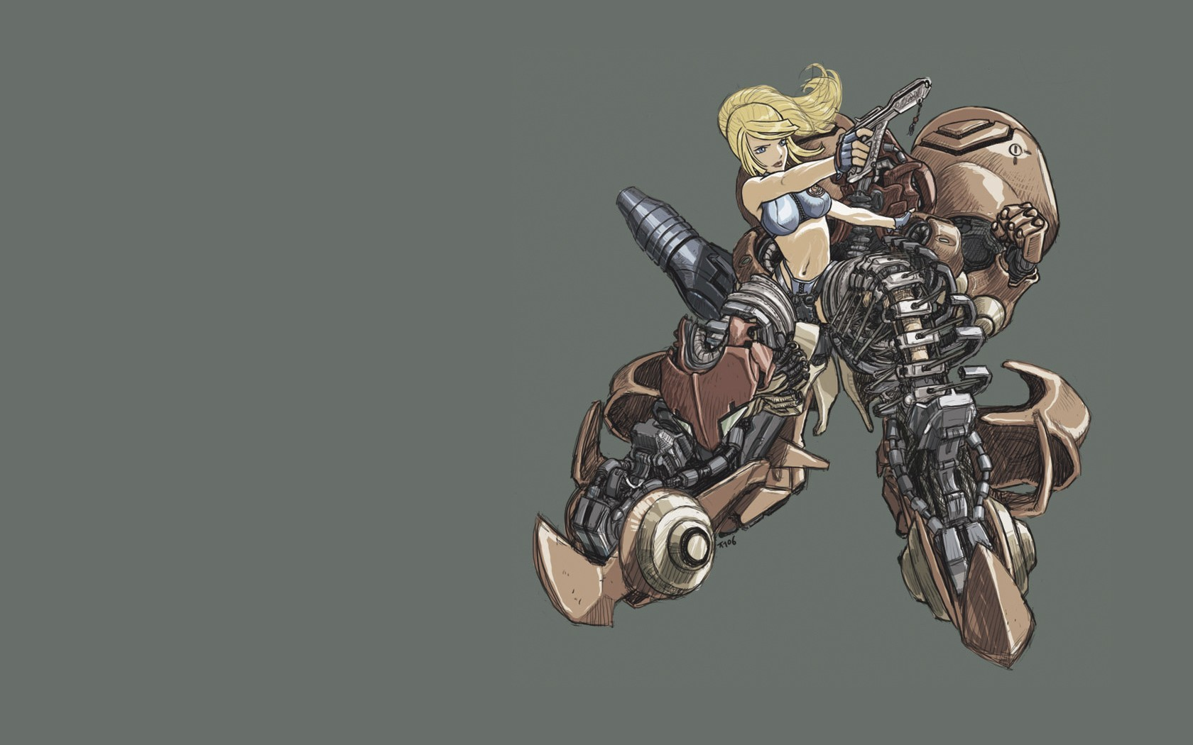 blondes metroid woman Guns HD Wallpaper