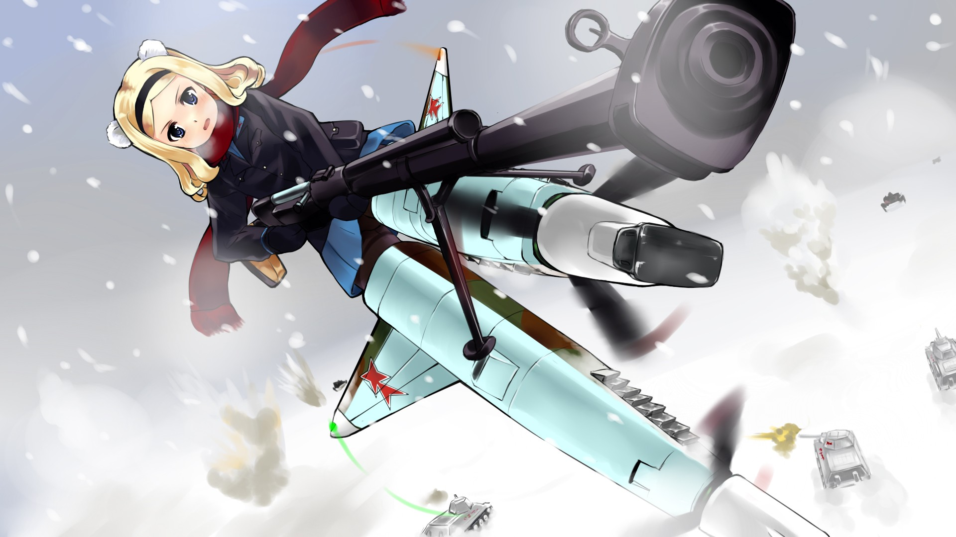 blondes strike witches weapons HD Wallpaper