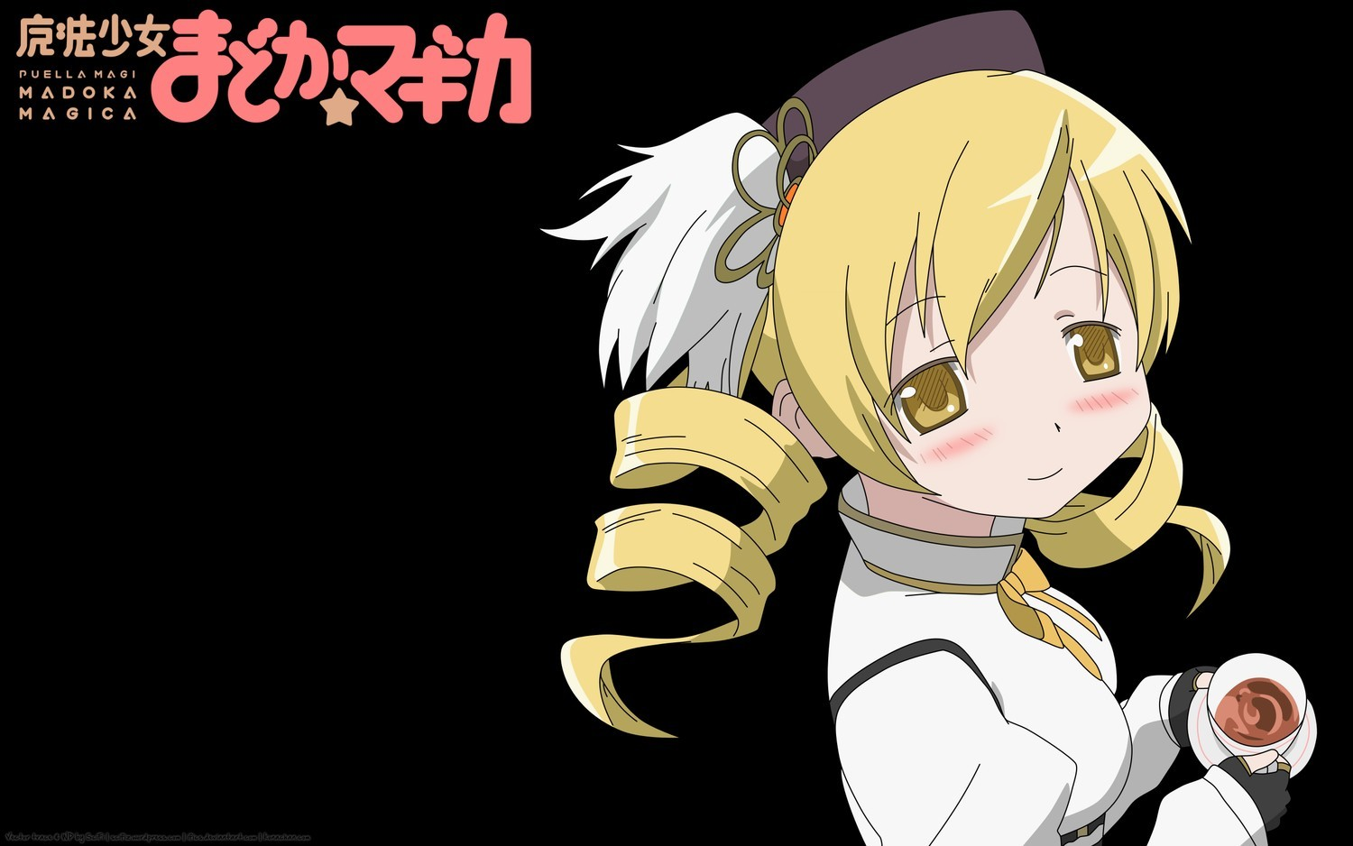 blondes tea yellow eyes HD Wallpaper