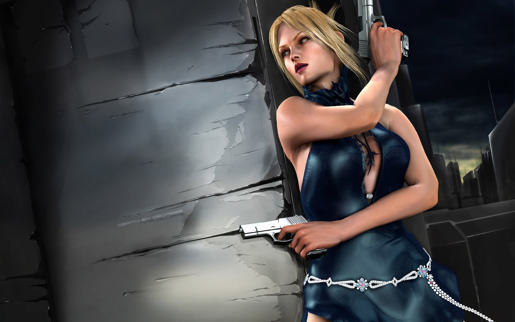 blondes Tekken Guns blue HD Wallpaper