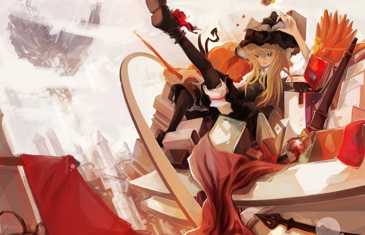 blondes touhou cityscapes Books HD Wallpaper