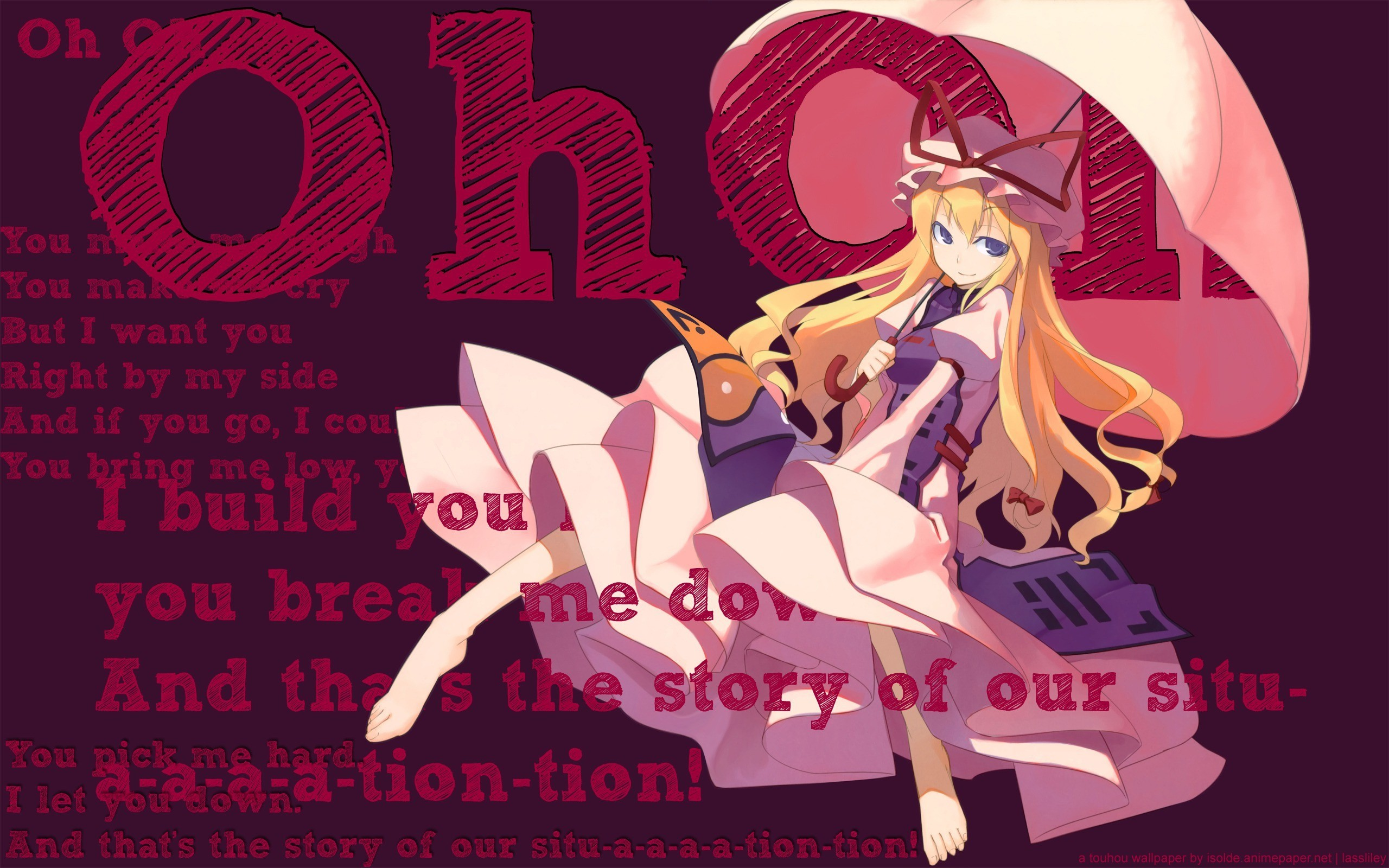 blondes touhou dress text