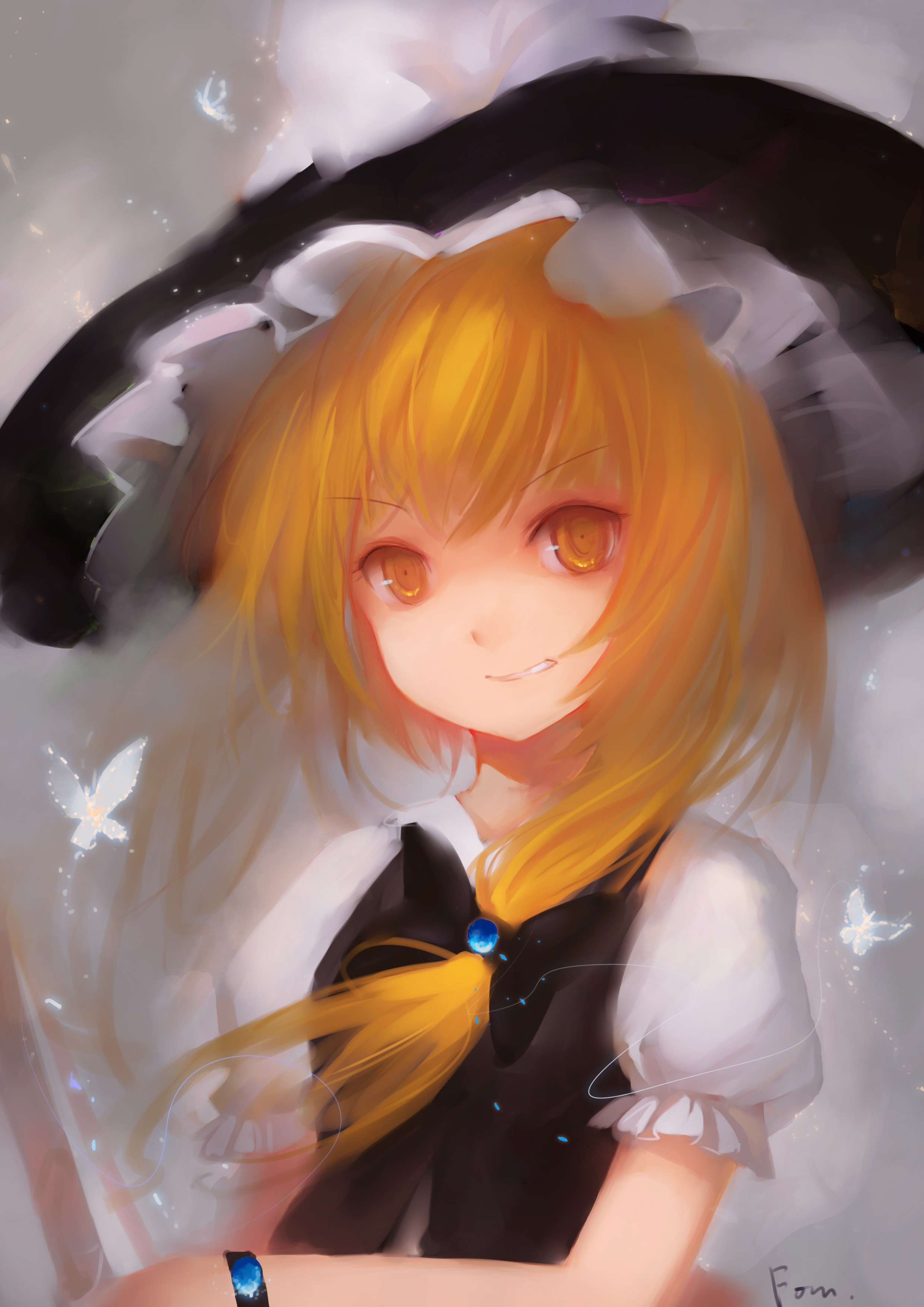 blondes touhou long hair HD Wallpaper