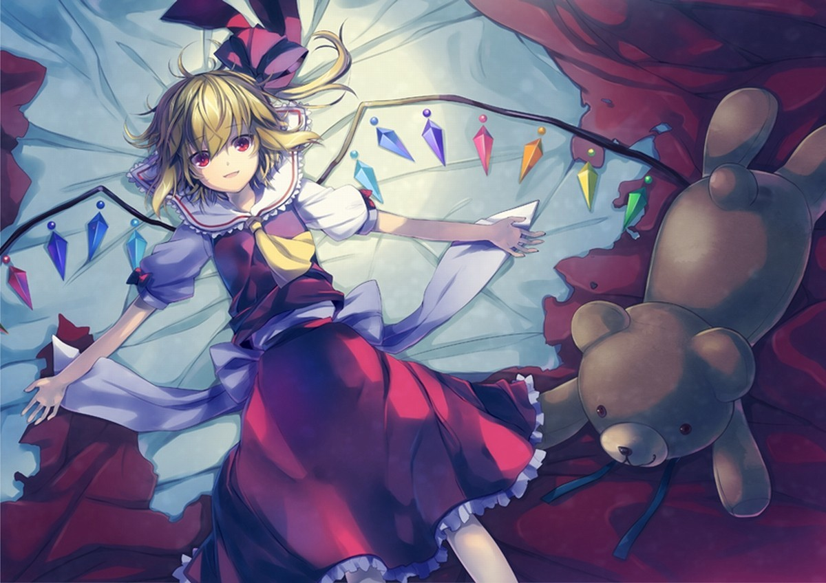 blondes touhou wings beds HD Wallpaper