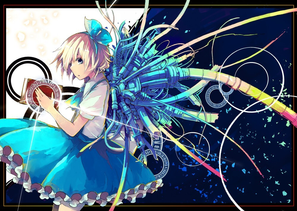 blondes touhou wings blue HD Wallpaper