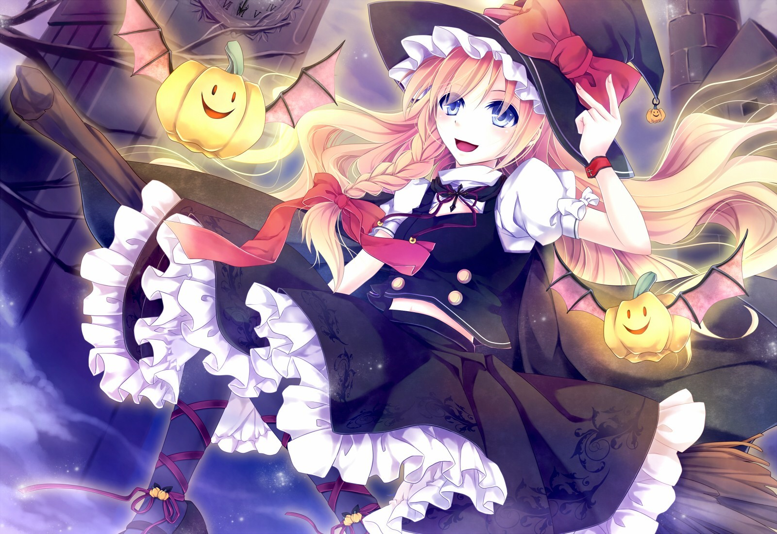 blondes touhou wings flying HD Wallpaper