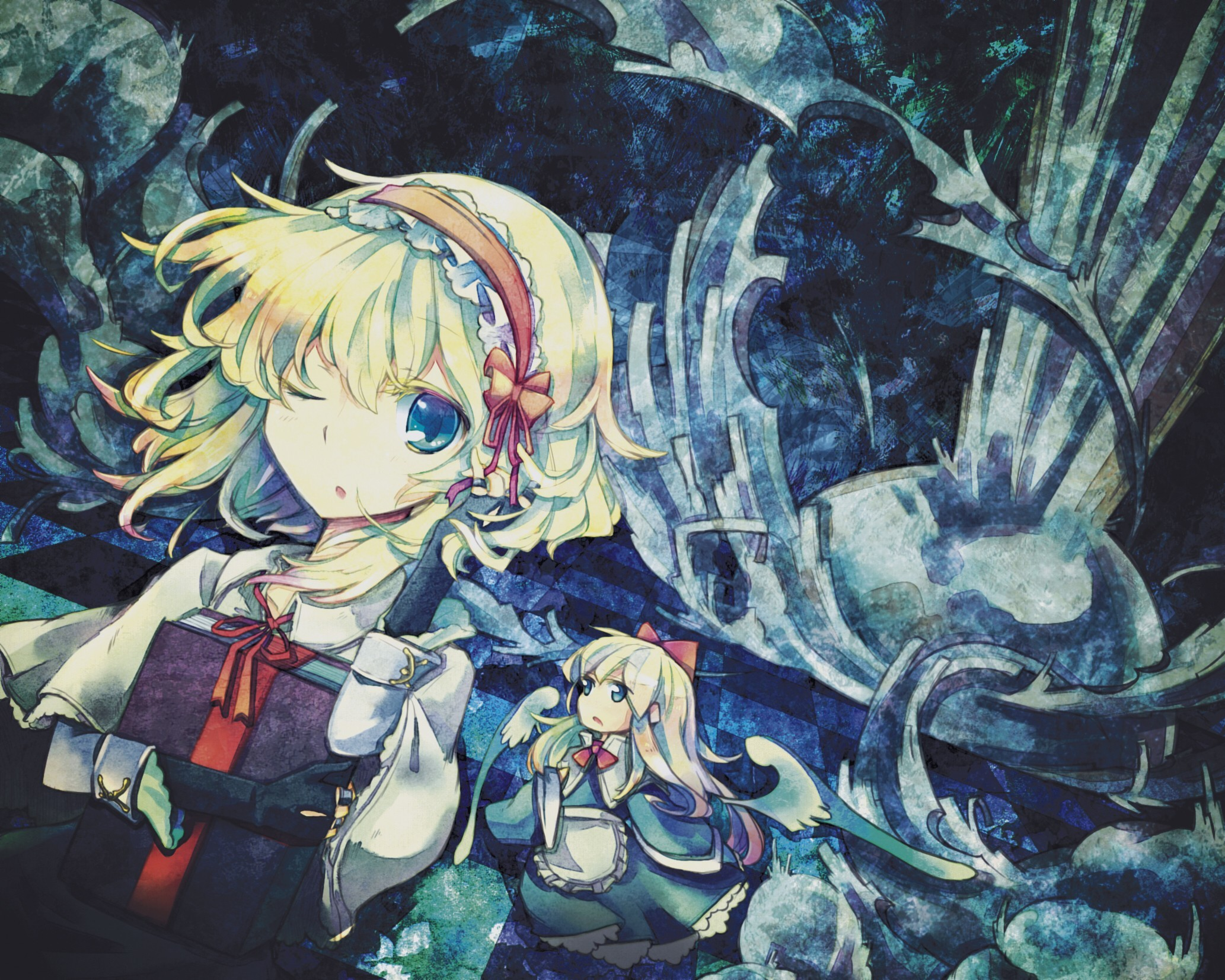 blondes video games touhou HD Wallpaper