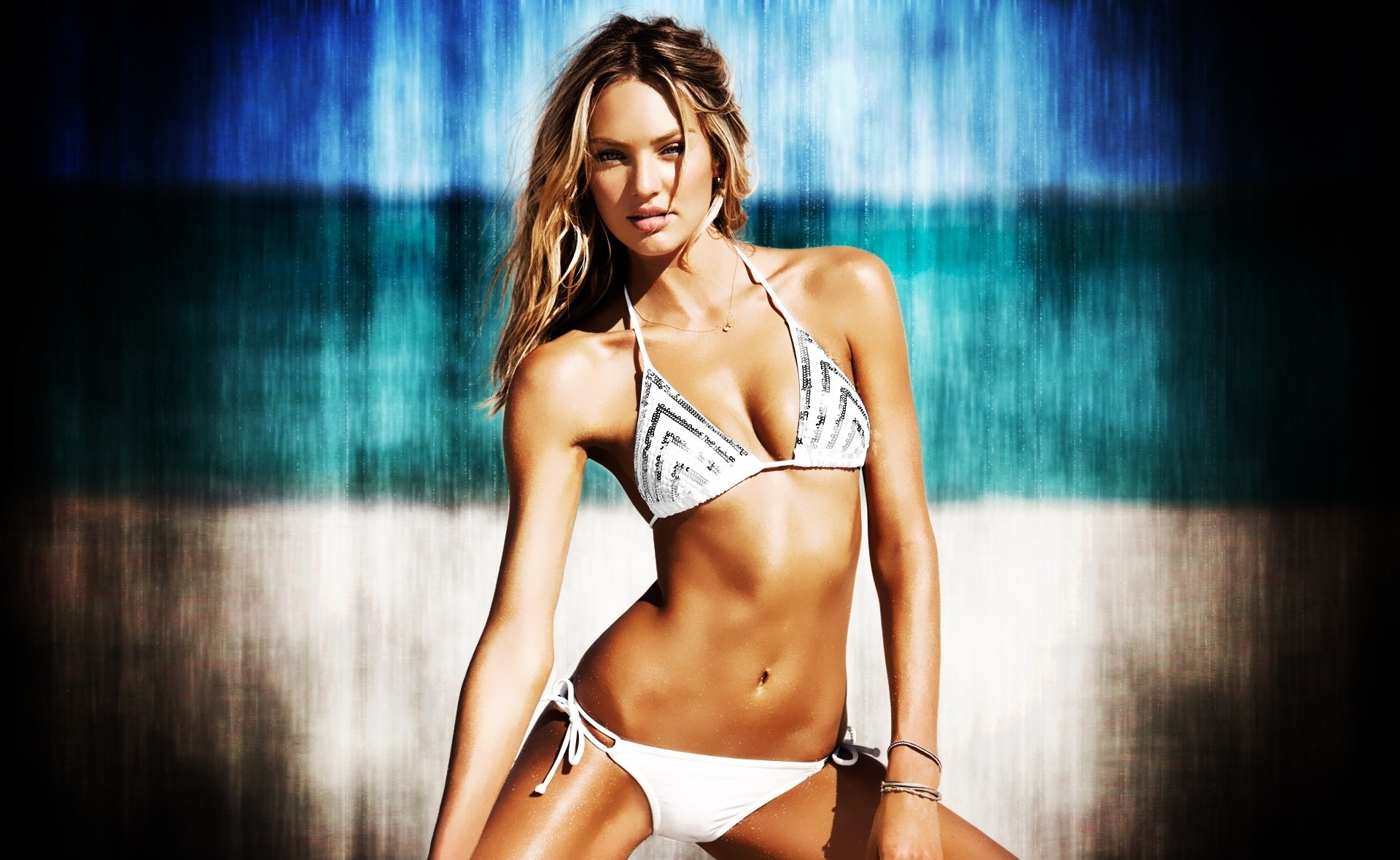 blondes woman bikini candice HD Wallpaper