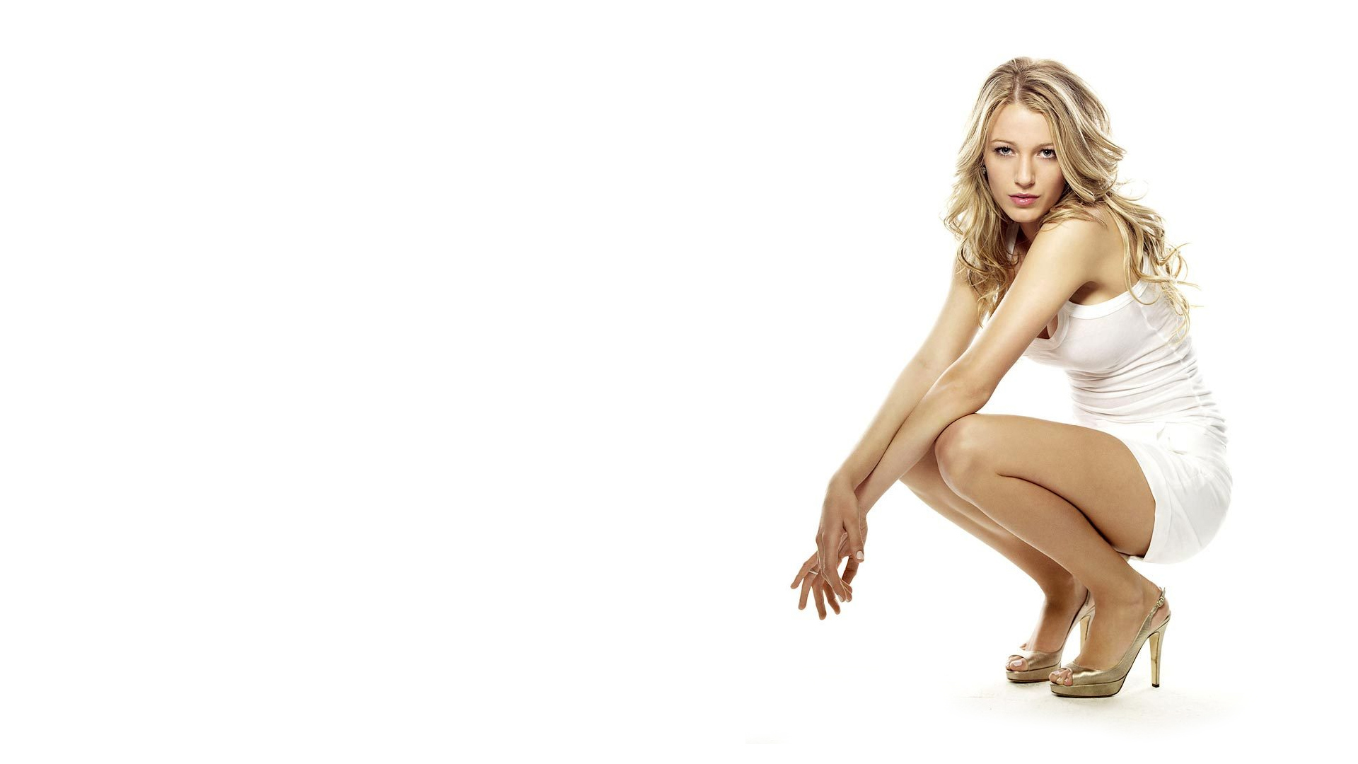 Blake Lively Heels on Blondes Women Blake Lively High Heels White Dress Hd Wallpaper   Girls