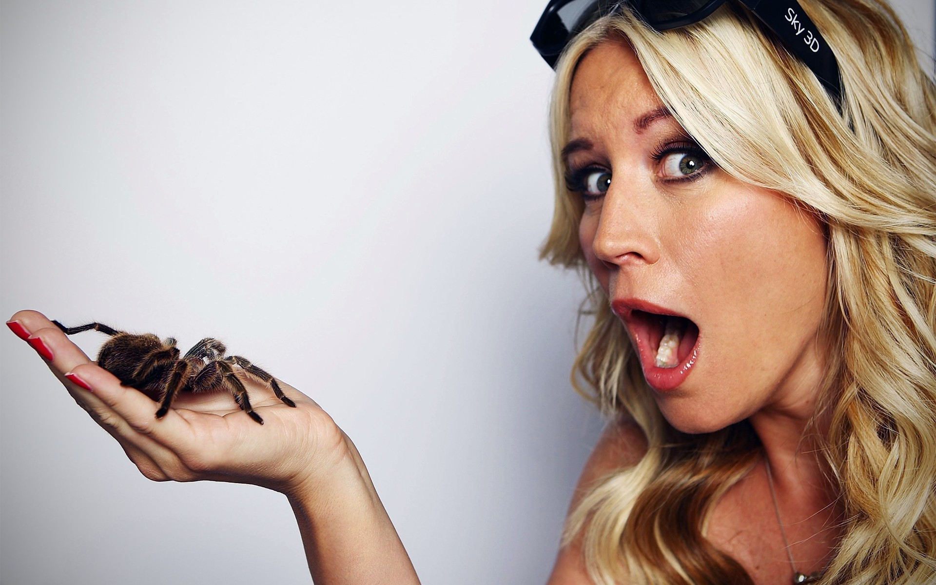 blondes woman insects Celebrity HD Wallpaper
