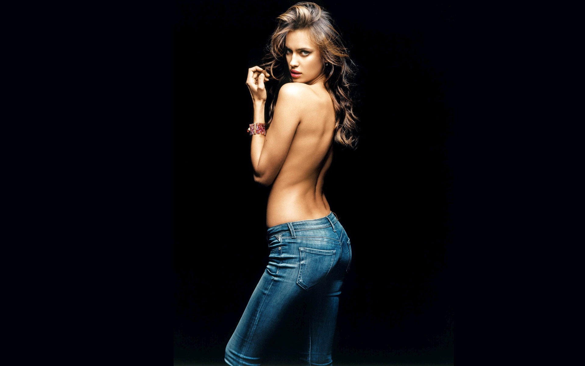 blondes woman jeans irina HD Wallpaper