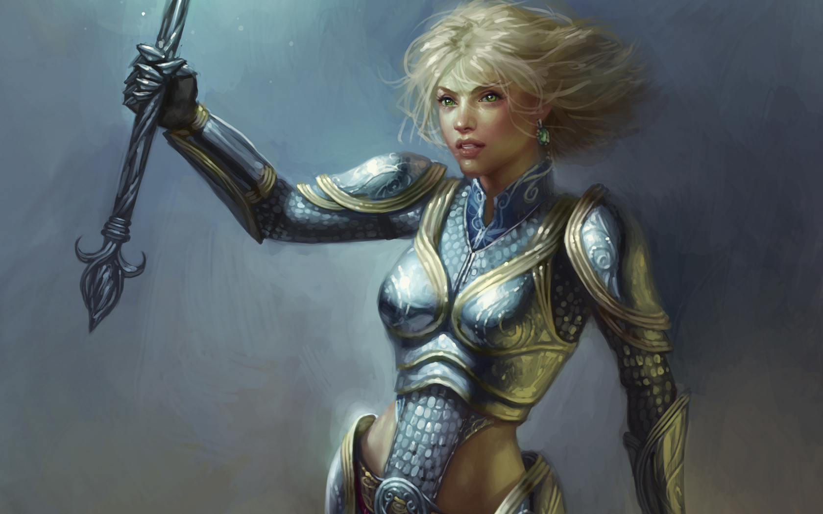 blondes woman Knights League HD Wallpaper