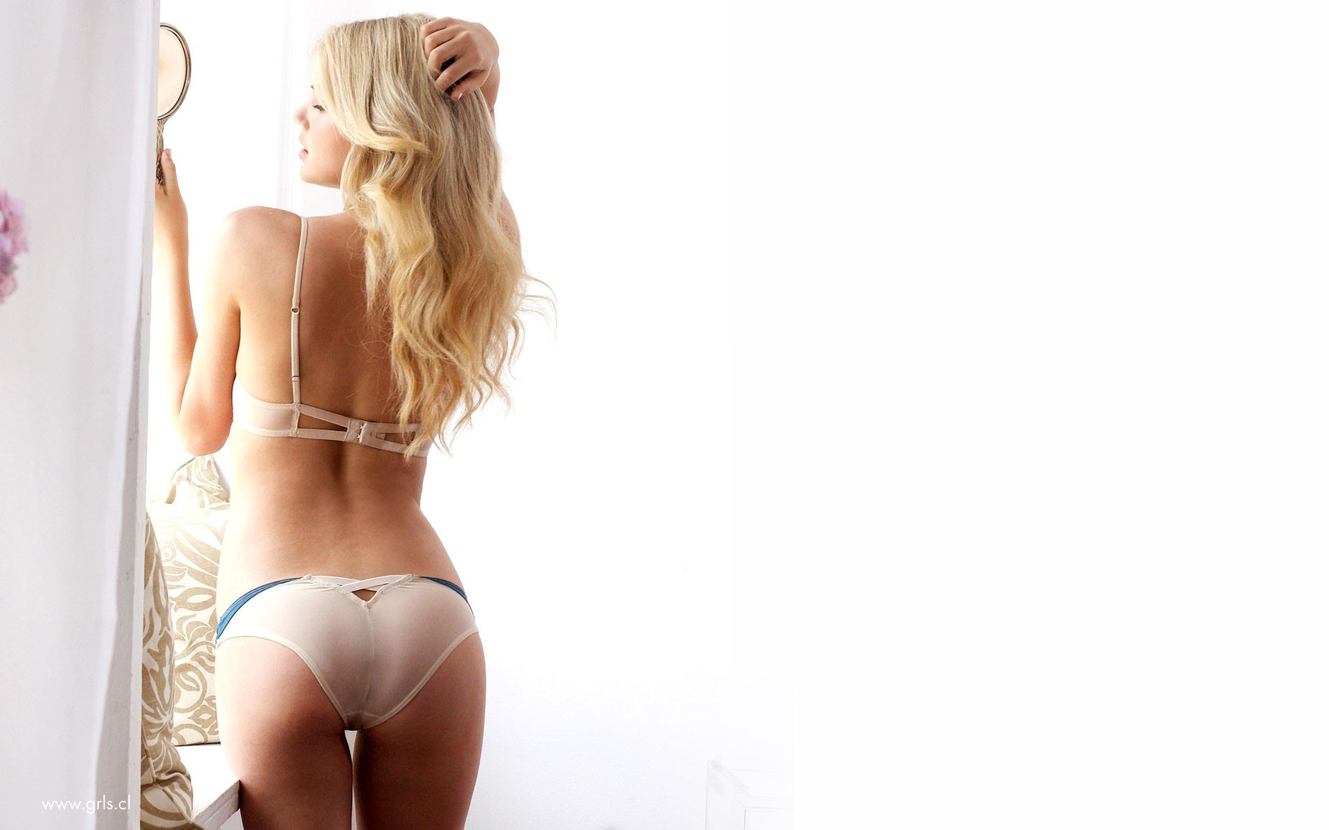 blondes woman panties ass HD Wallpaper