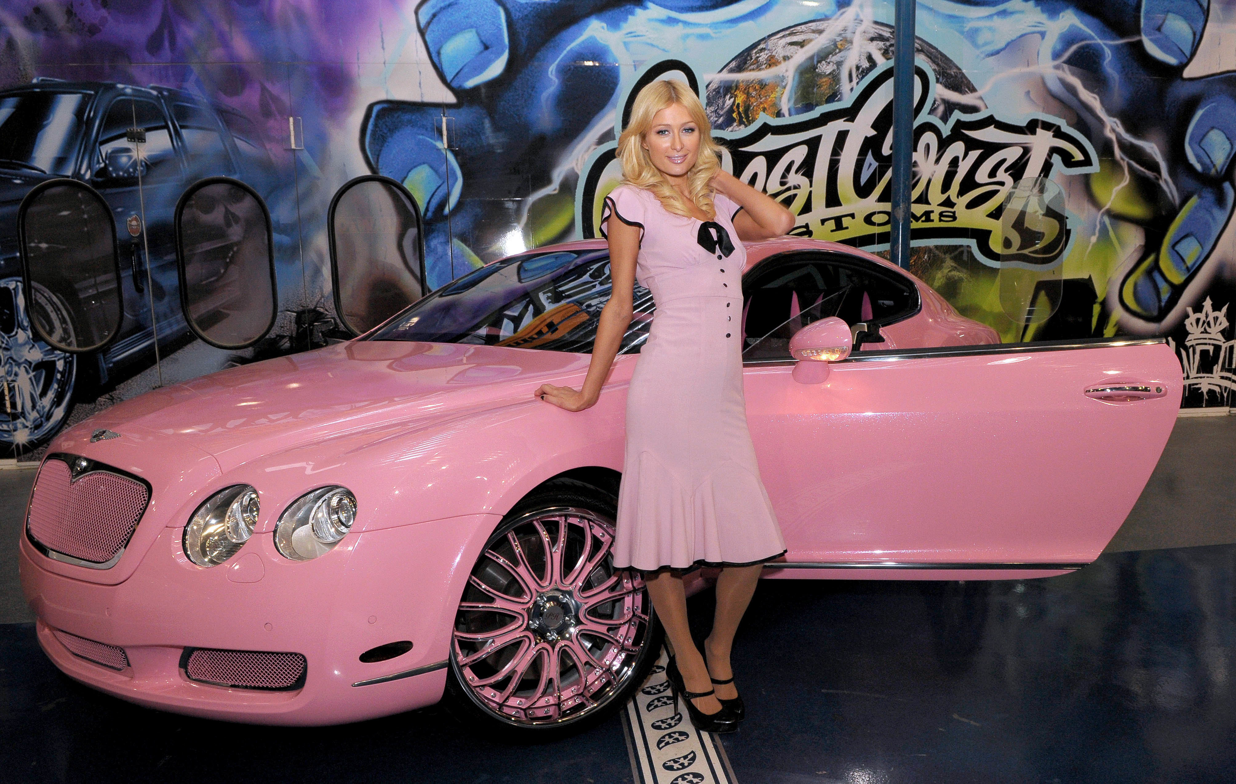 blondes Women cars Paris HD Wallpaper