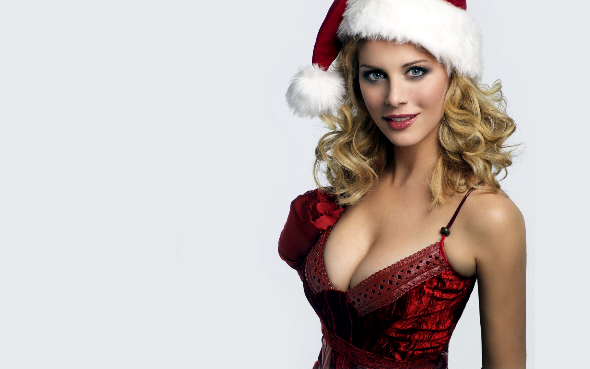blondes Women Christmas outfits HD Wallpaper