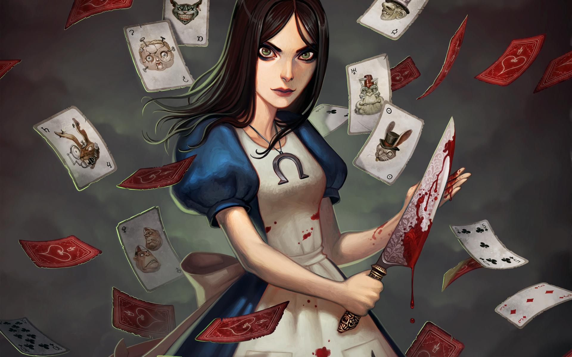 blood Alice in Wonderland HD Wallpaper