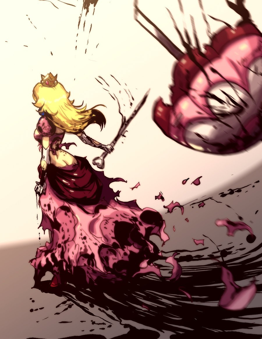 blood gore princess peach HD Wallpaper