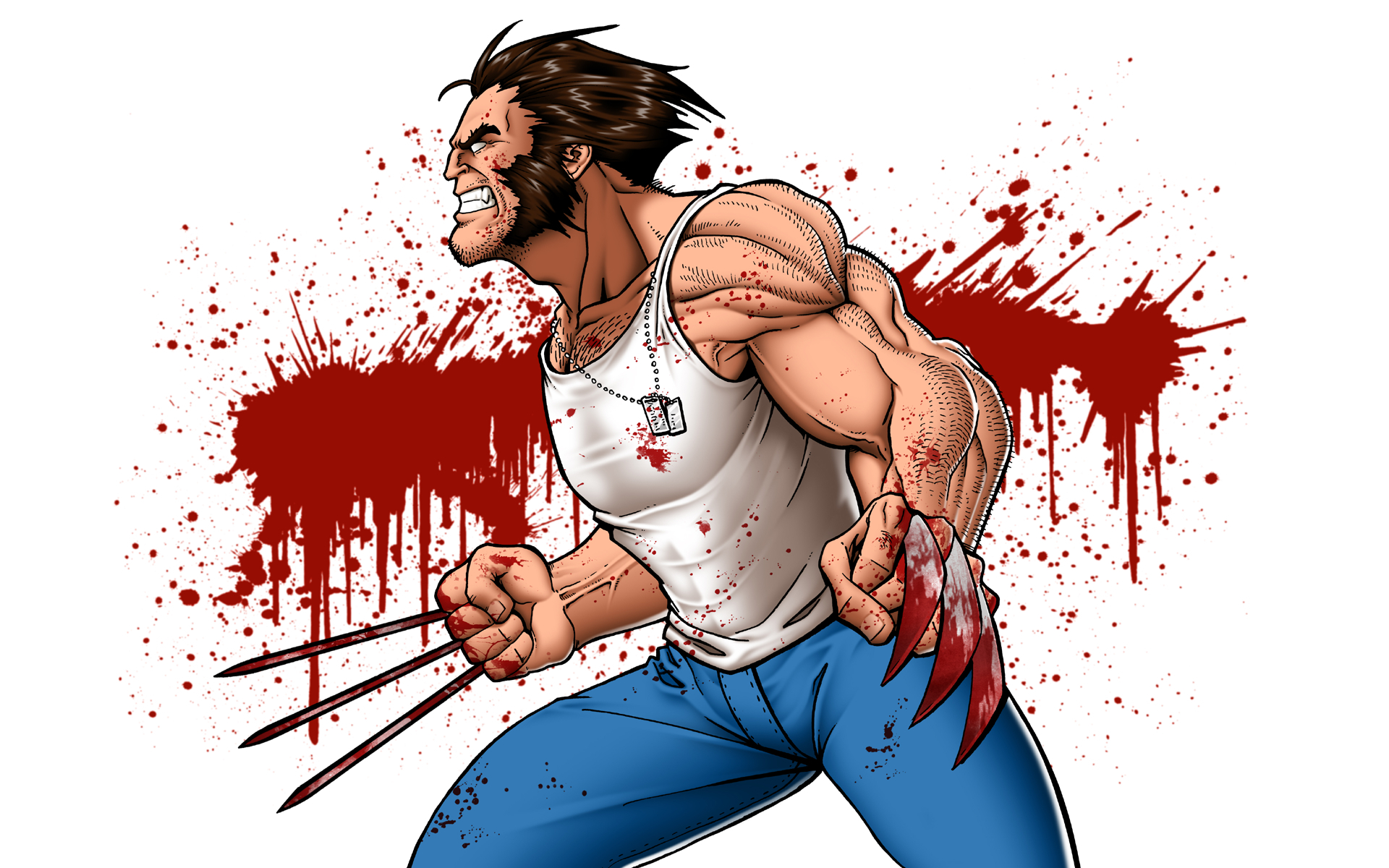 blood X-Men wolverine marvel HD Wallpaper