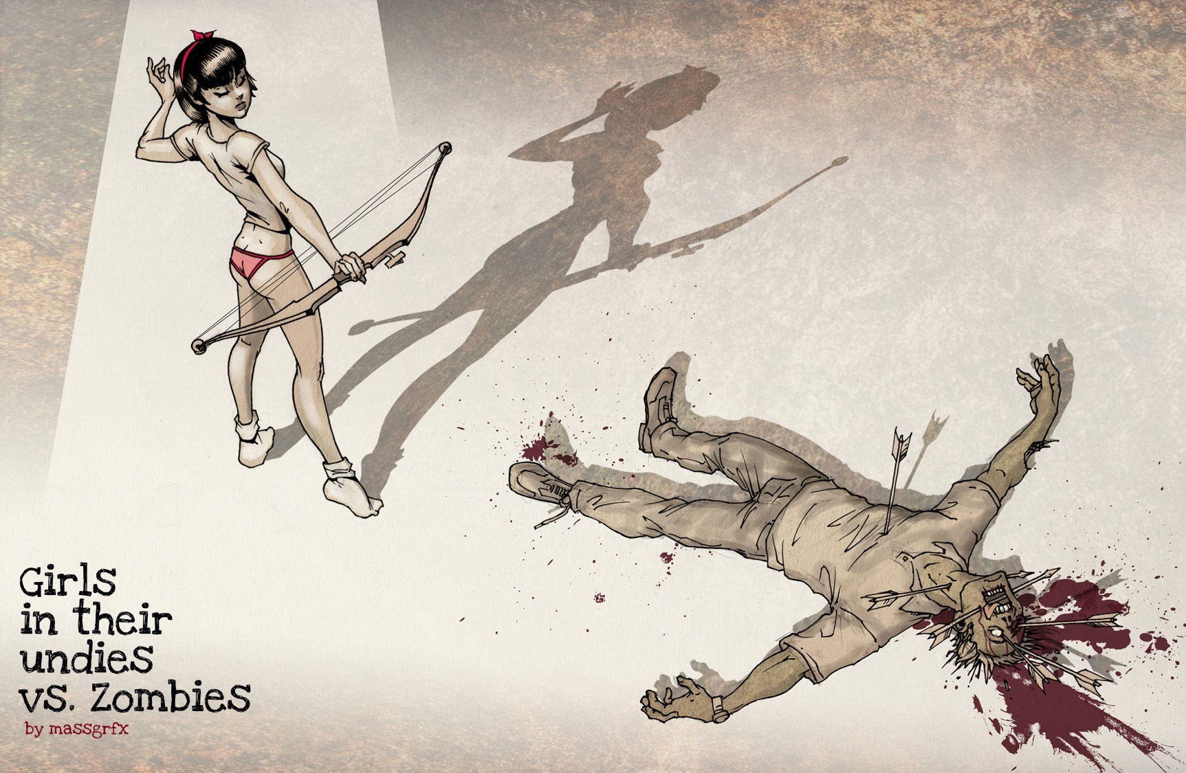 blood zombies artwork Girls