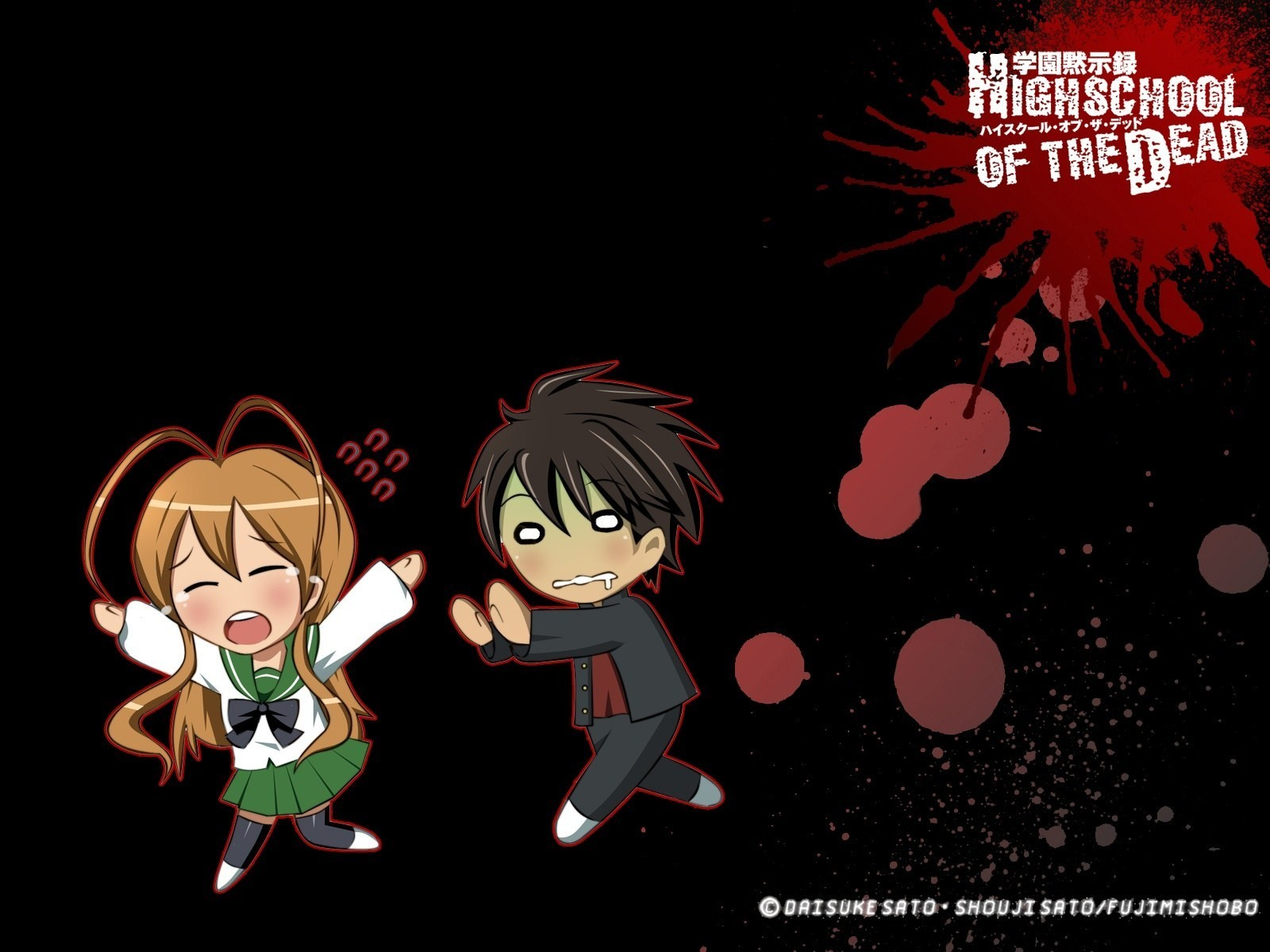 blood zombies Chibi highschool HD Wallpaper