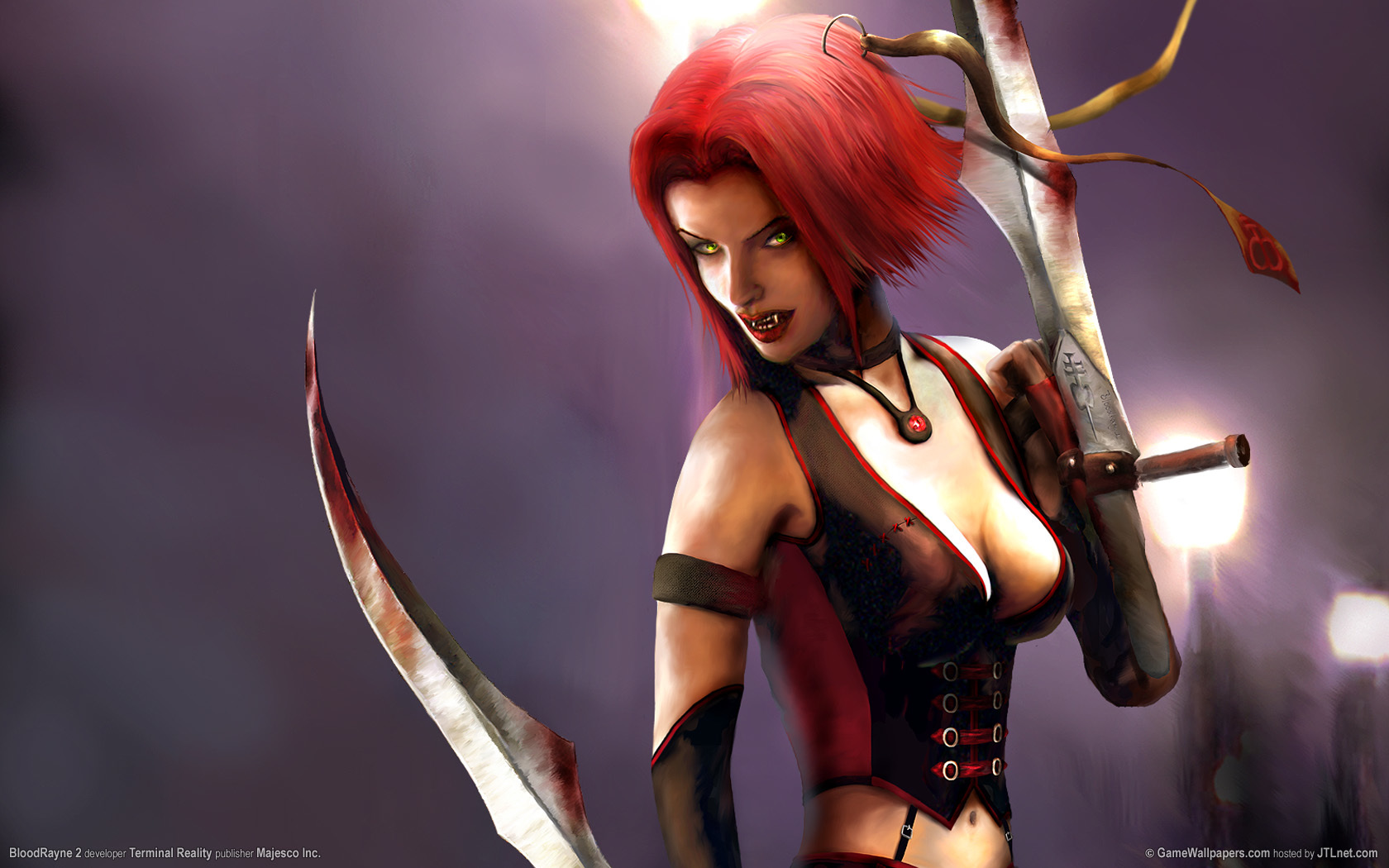 BloodRayne sword 3d bloodrayne2 HD Wallpaper