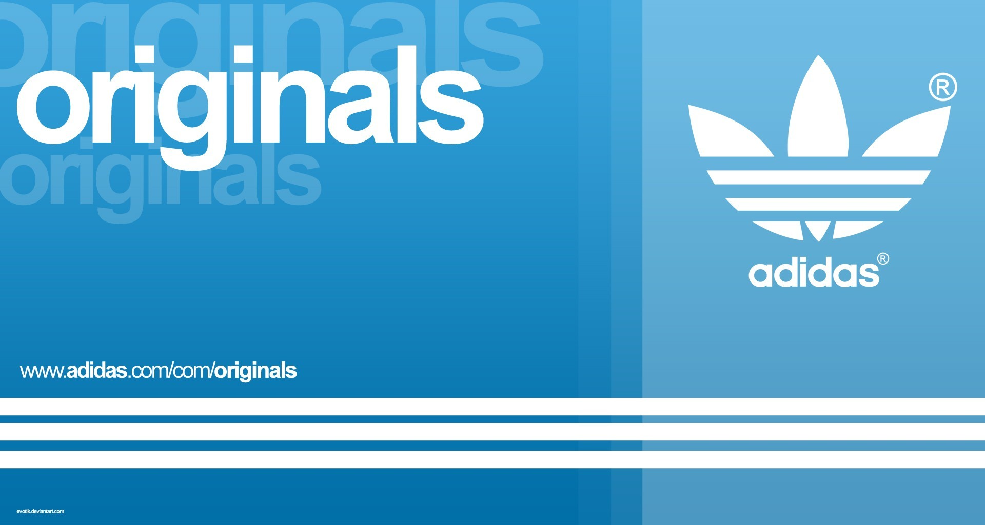 blue Adidas logos HD Wallpaper