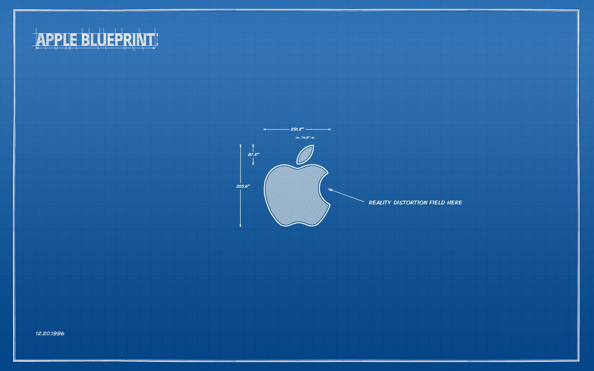 blue apple inc mac HD Wallpaper