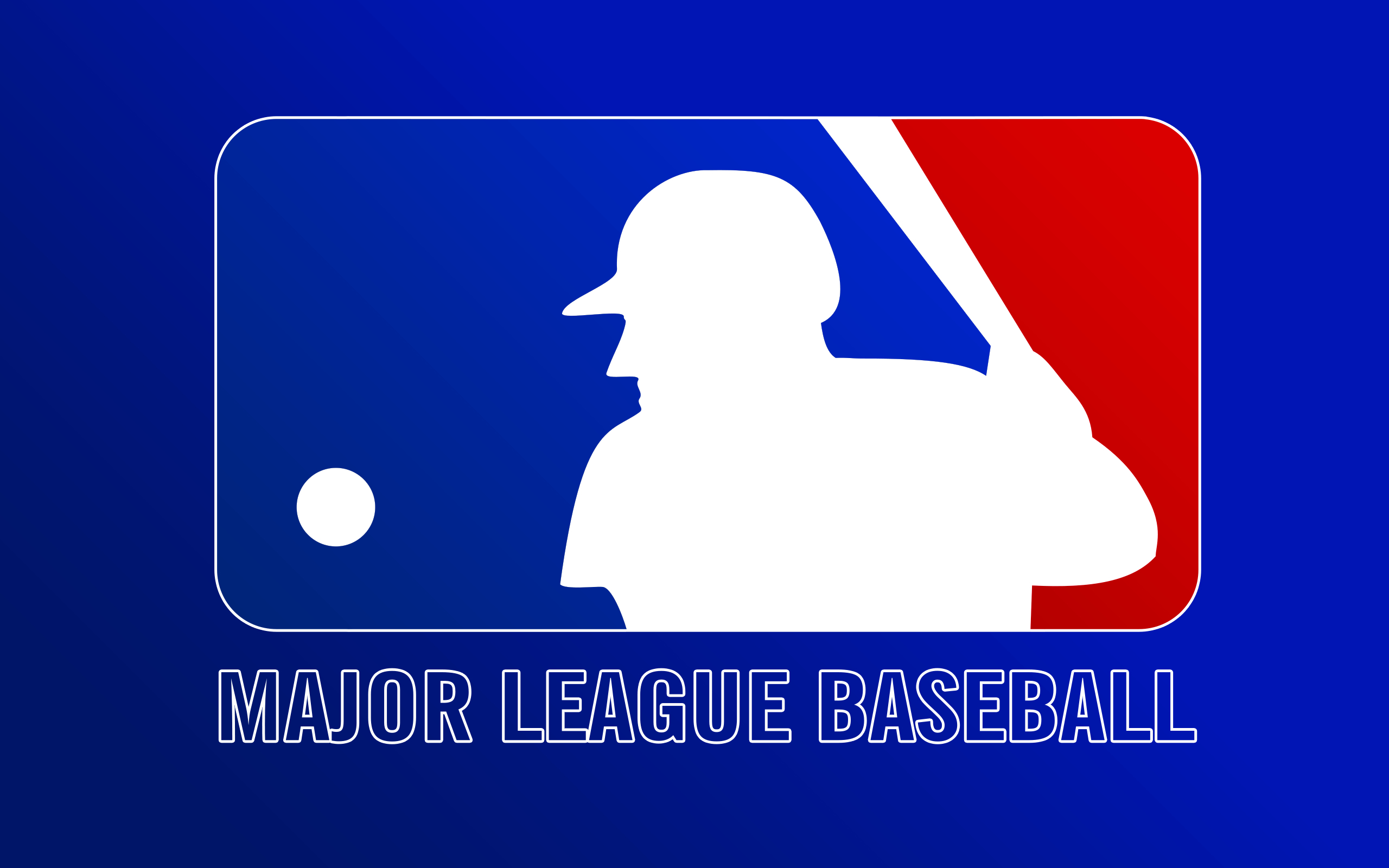 blue baseball mlb logos HD Wallpaper