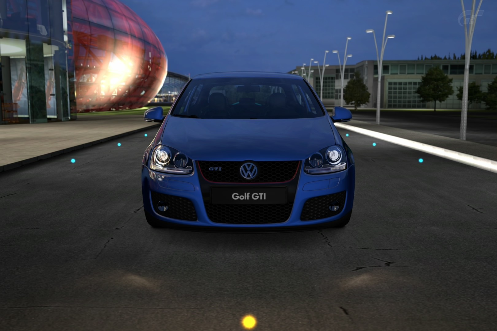 blue cars GTI Volkswagen HD Wallpaper