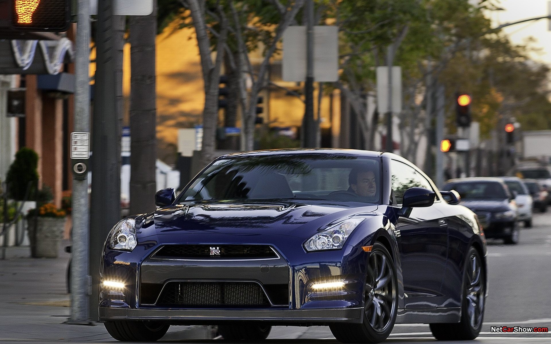 blue cityscapes cars Nissan HD Wallpaper