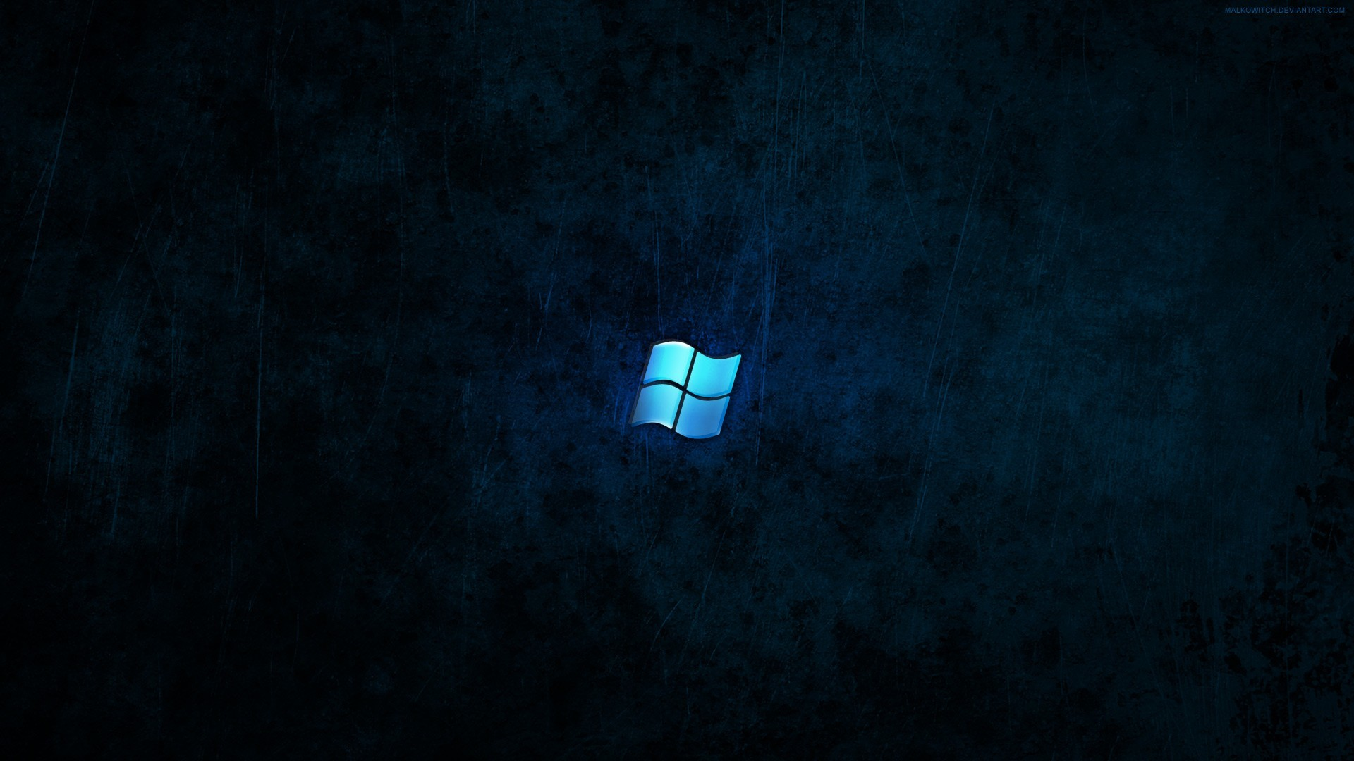 blue dark windows 7 HD Wallpaper