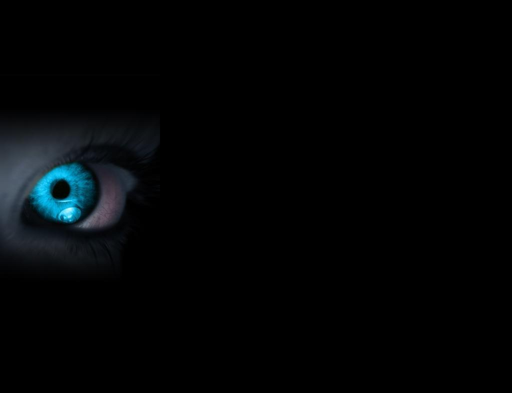 blue glowing eye iphone HD Wallpaper