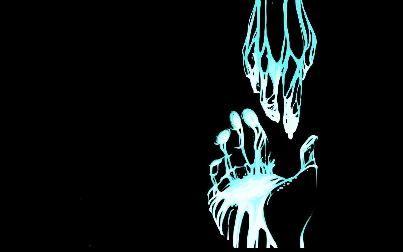 blue hands HD Wallpaper