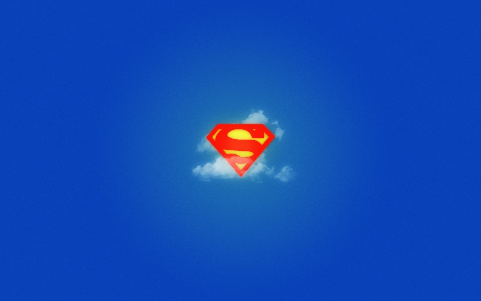 blue minimalistic superman logos HD Wallpaper