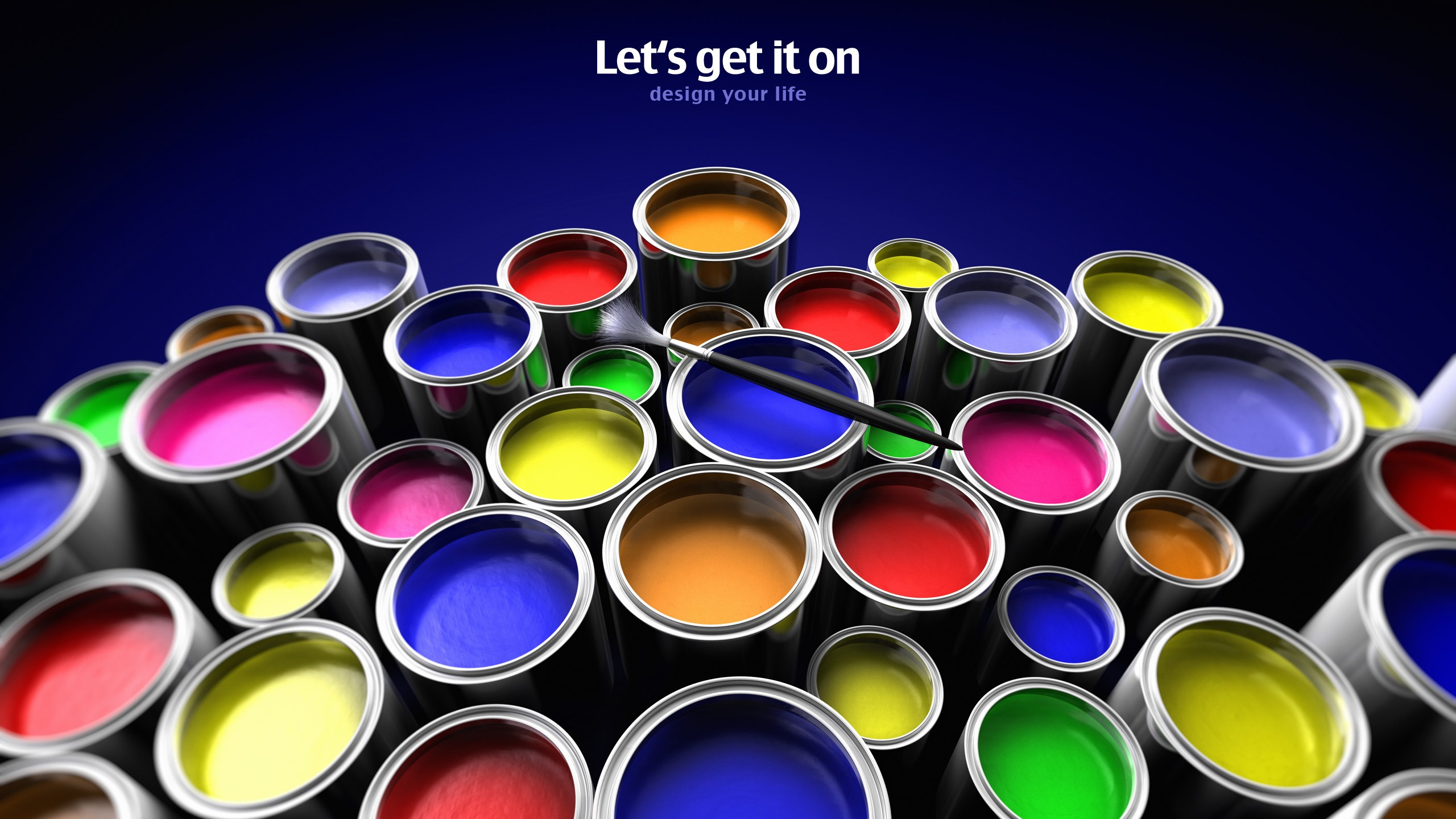 blue multicolor paint HD Wallpaper