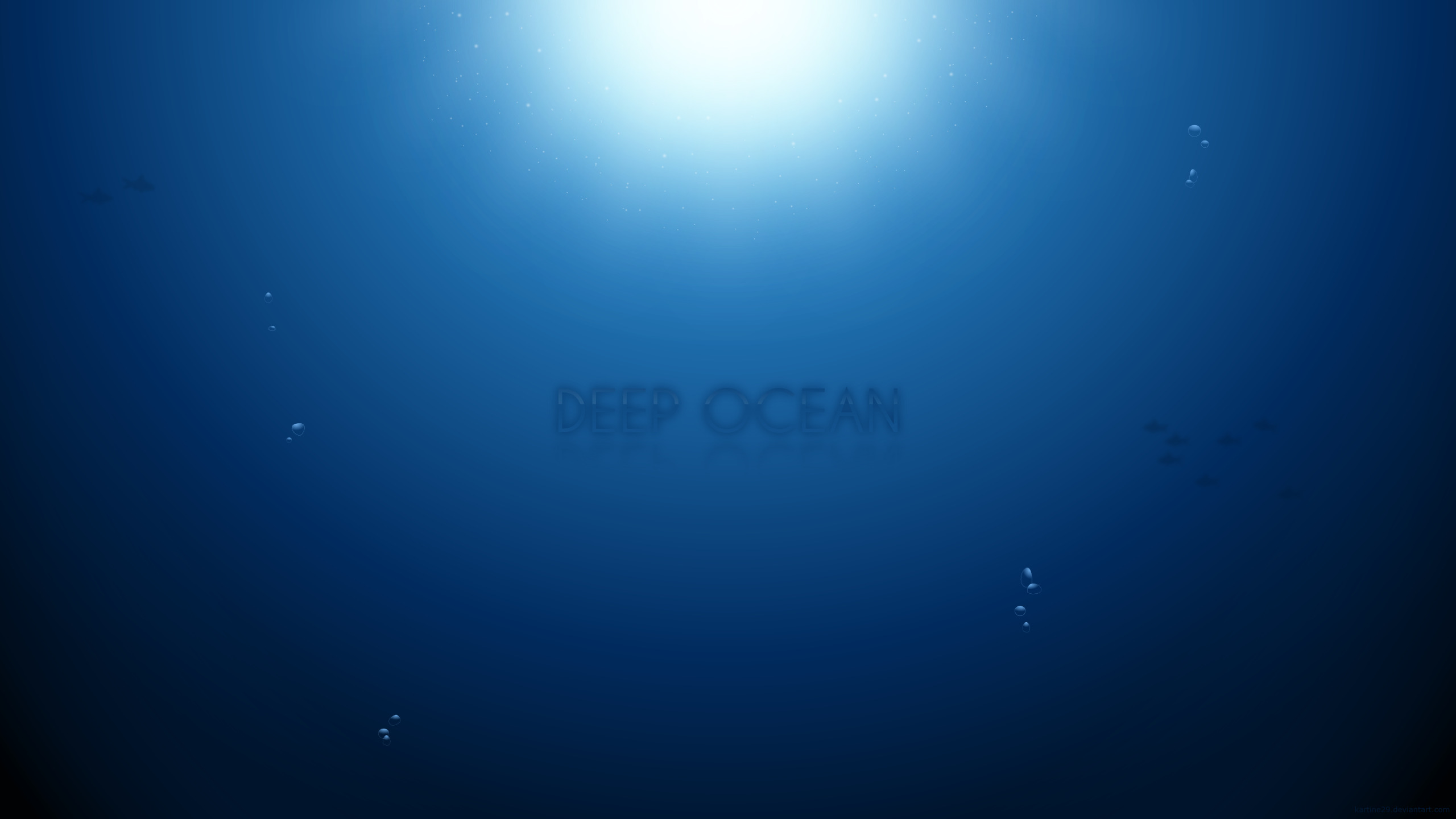 blue ocean sun minimalistic HD Wallpaper