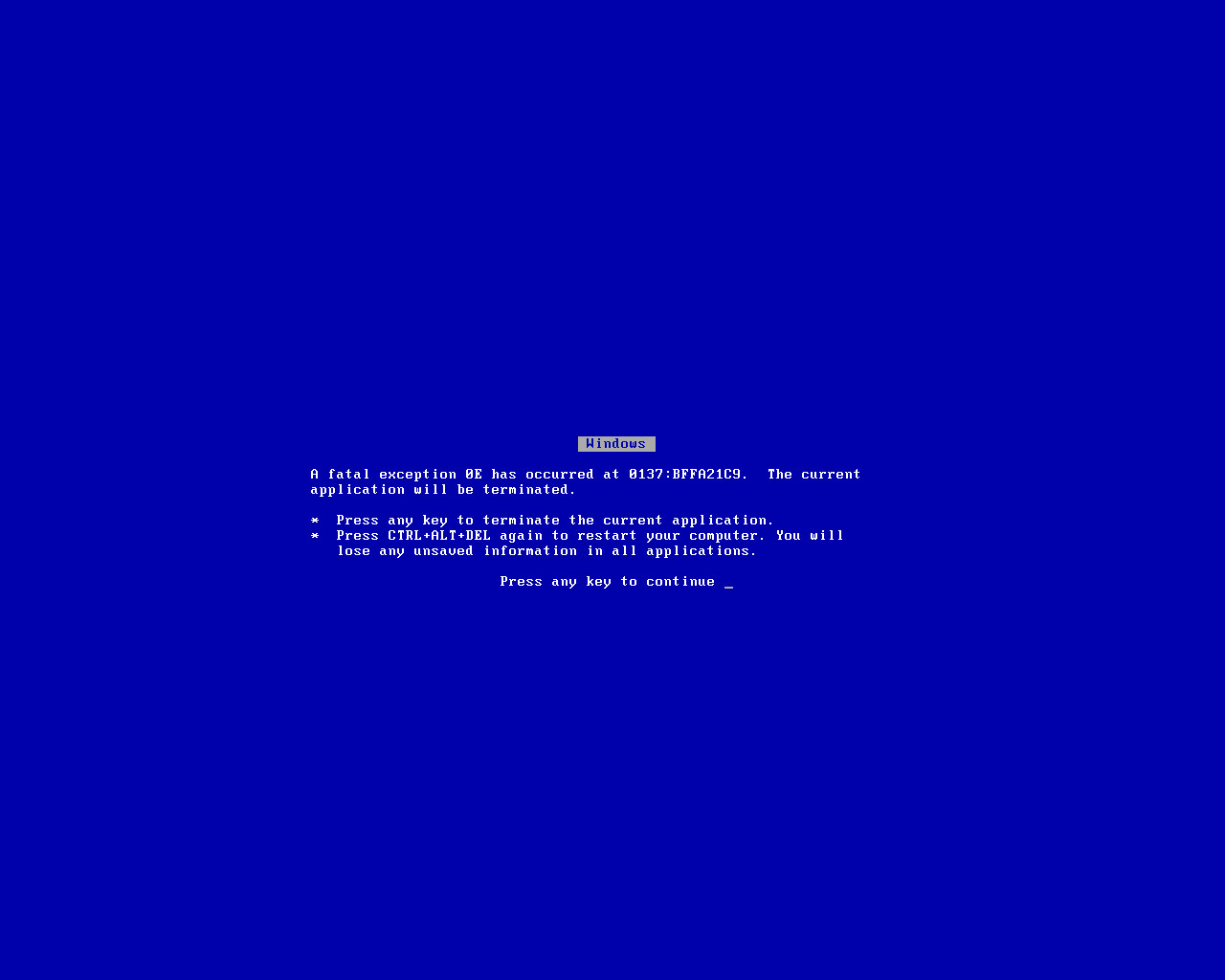 Blue Screen of Death HD Wallpaper