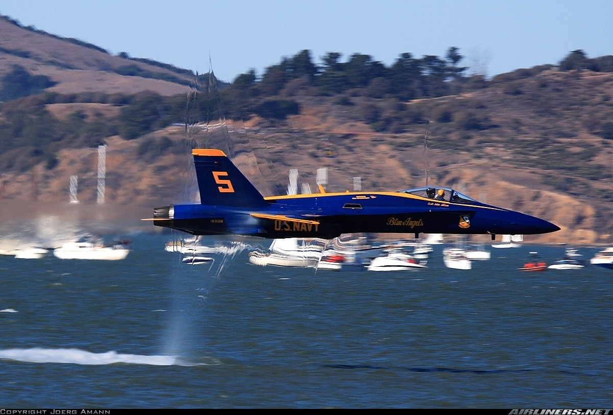 blue shockwave F A-18 Hornet HD Wallpaper