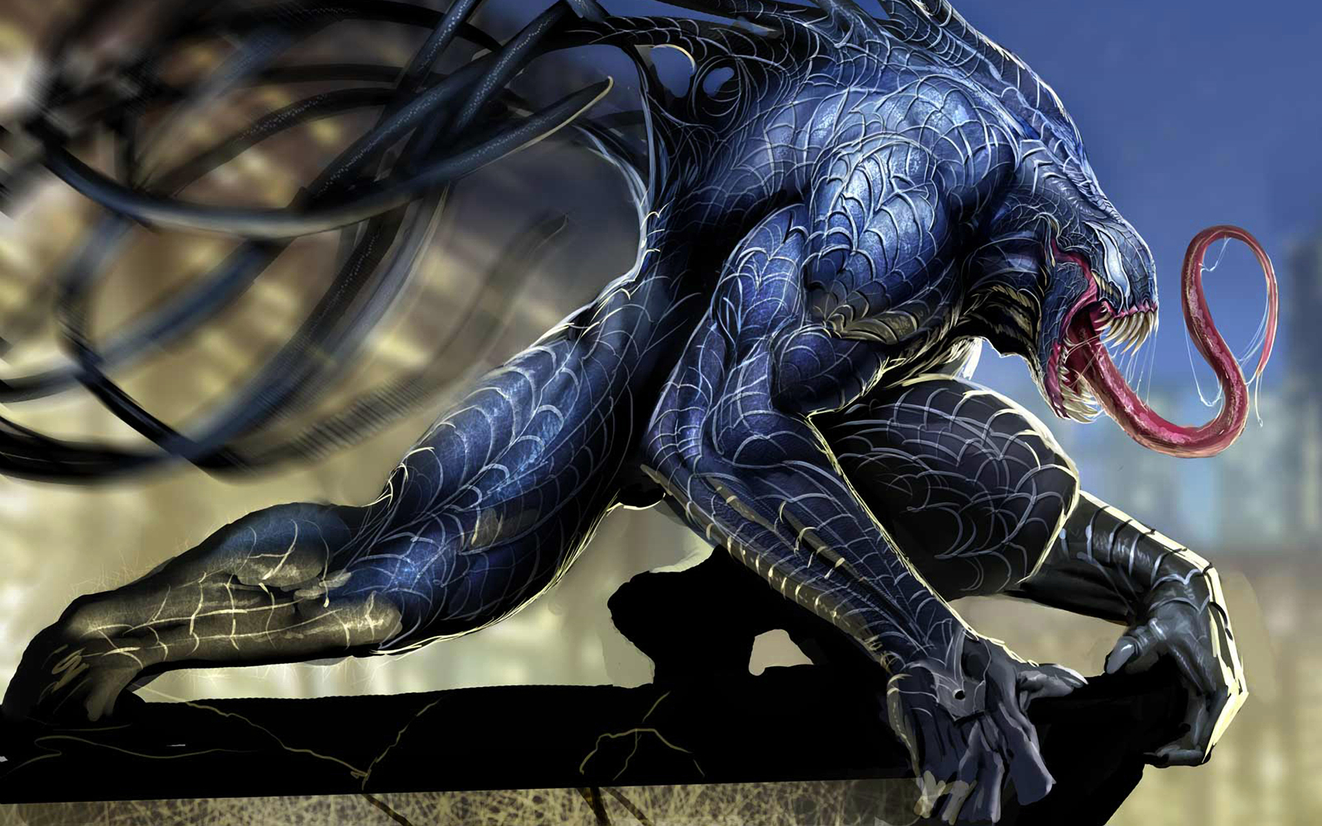 blue Venom Spider-Man marvel HD Wallpaper