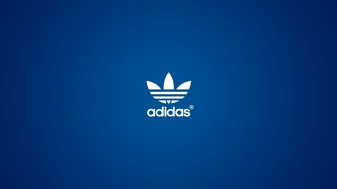 blue white Adidas logos HD Wallpaper