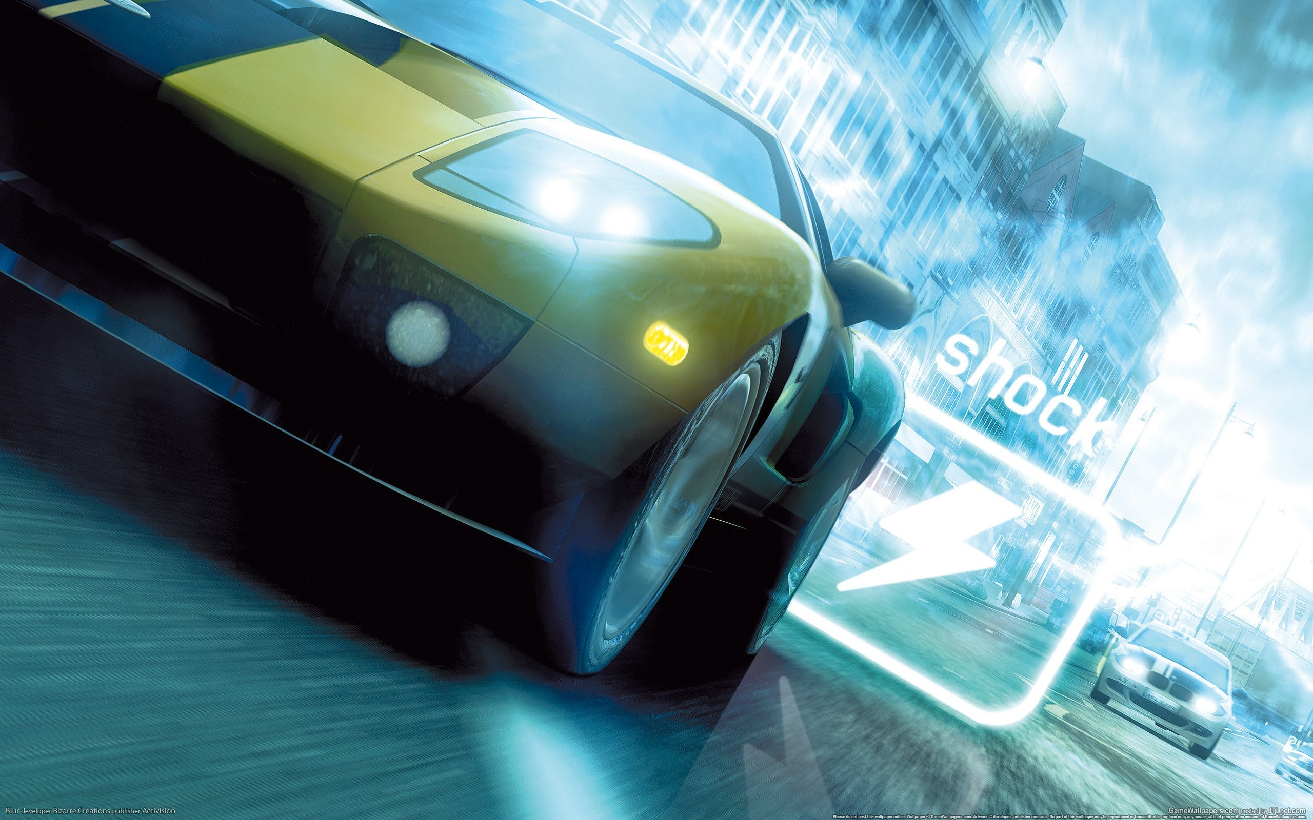 blurred video games ford HD Wallpaper