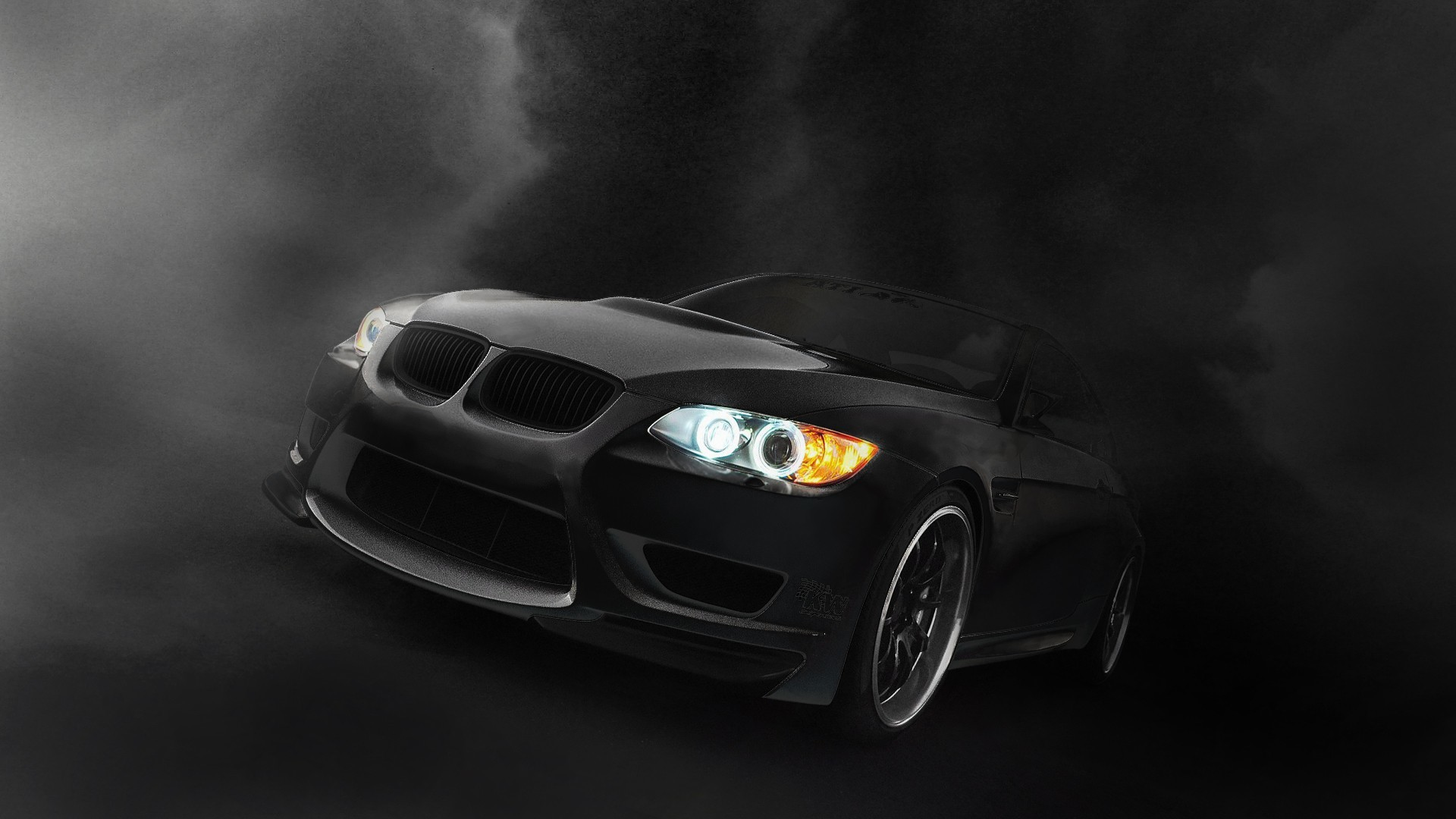 BMW black dark cars